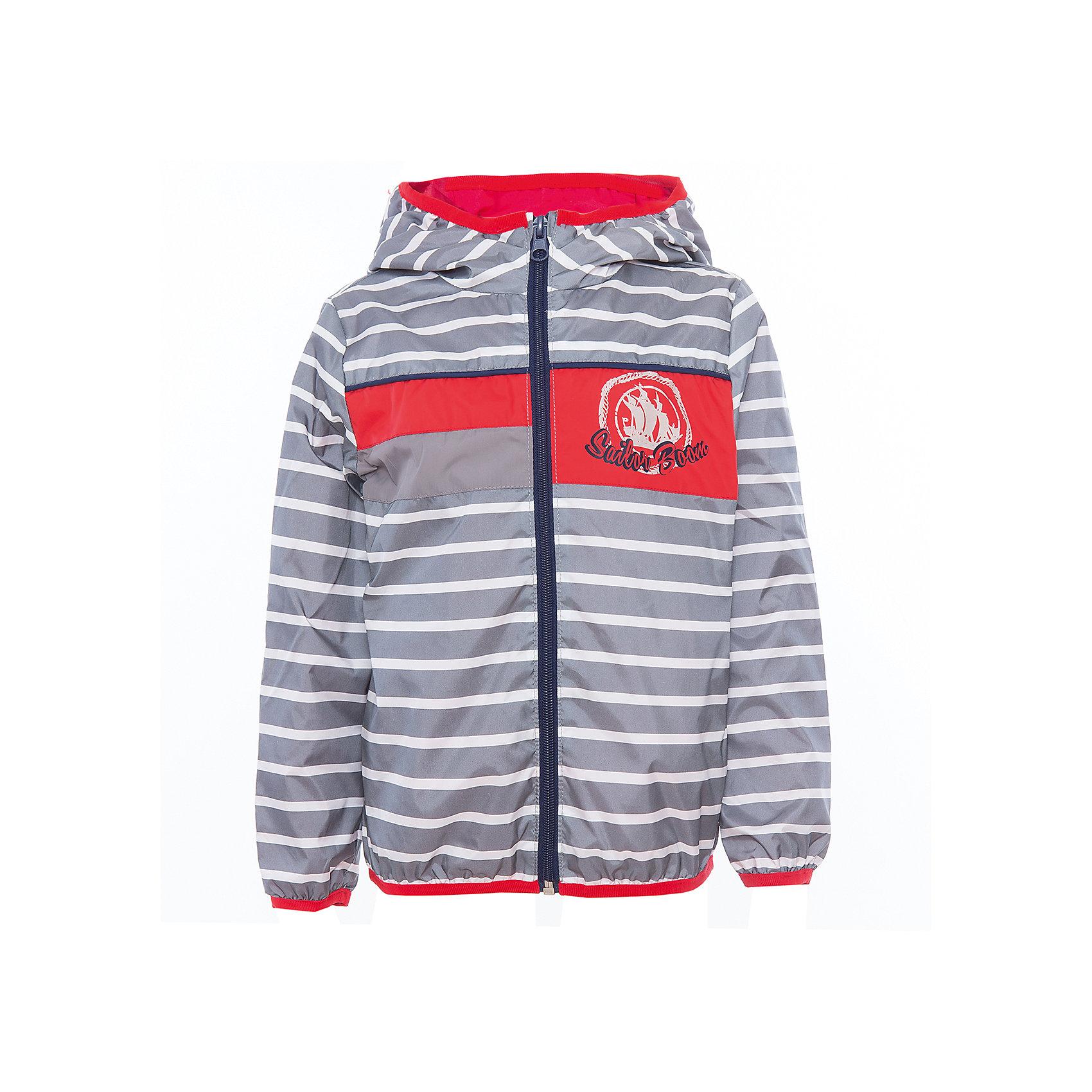 Куртка для мальчика BOOM by OrbyВерхняя одежда<br>Характеристики товара:<br><br>• цвет: серый<br>• состав: верх - таффета, подкладка - поликоттон, полиэстер, без утеплителя<br>• температурный режим: от +5° до +15°С<br>• пропитка от промокания<br>• застежка - молния<br>• капюшон <br>• украшена принтом<br>• легкая<br>• комфортная посадка<br>• страна производства: Российская Федерация<br>• страна бренда: Российская Федерация<br>• коллекция: весна-лето 2017<br><br>Легкая куртка - универсальный вариант и для прохладного летнего вечера, и для теплого межсезонья. Эта модель - модная и удобная одновременно! Изделие отличается стильным ярким дизайном. Куртка хорошо сидит по фигуре, отлично сочетается с различным низом. Вещь была разработана специально для детей.<br><br>Одежда от российского бренда BOOM by Orby уже завоевала популярностью у многих детей и их родителей. Вещи, выпускаемые компанией, качественные, продуманные и очень удобные. Для производства коллекций используются только безопасные для детей материалы. Спешите приобрести модели из новой коллекции Весна-лето 2017! <br><br>Куртку для мальчика от бренда BOOM by Orby можно купить в нашем интернет-магазине.<br><br>Ширина мм: 356<br>Глубина мм: 10<br>Высота мм: 245<br>Вес г: 519<br>Цвет: серый<br>Возраст от месяцев: 24<br>Возраст до месяцев: 36<br>Пол: Мужской<br>Возраст: Детский<br>Размер: 98,110,116,122,128,134,140,146,152,158,104,86,92<br>SKU: 5343904