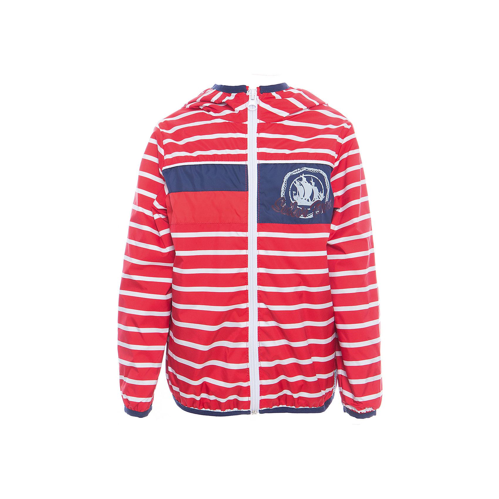 Куртка для мальчика BOOM by OrbyПолоска<br>Характеристики товара:<br><br>• цвет: красный<br>• состав: верх - таффета, подкладка - поликоттон, полиэстер, без утеплителя<br>• температурный режим: от +5° до +15°С<br>• пропитка от промокания<br>• застежка - молния<br>• капюшон <br>• украшена принтом<br>• легкая<br>• комфортная посадка<br>• страна производства: Российская Федерация<br>• страна бренда: Российская Федерация<br>• коллекция: весна-лето 2017<br><br>Легкая куртка - универсальный вариант и для прохладного летнего вечера, и для теплого межсезонья. Эта модель - модная и удобная одновременно! Изделие отличается стильным ярким дизайном. Куртка хорошо сидит по фигуре, отлично сочетается с различным низом. Вещь была разработана специально для детей.<br><br>Одежда от российского бренда BOOM by Orby уже завоевала популярностью у многих детей и их родителей. Вещи, выпускаемые компанией, качественные, продуманные и очень удобные. Для производства коллекций используются только безопасные для детей материалы. Спешите приобрести модели из новой коллекции Весна-лето 2017! <br><br>Куртку для мальчика от бренда BOOM by Orby можно купить в нашем интернет-магазине.<br><br>Ширина мм: 356<br>Глубина мм: 10<br>Высота мм: 245<br>Вес г: 519<br>Цвет: красный<br>Возраст от месяцев: 72<br>Возраст до месяцев: 84<br>Пол: Мужской<br>Возраст: Детский<br>Размер: 146,104,158,86,92,98,110,116,152,122,128,134,140<br>SKU: 5343918