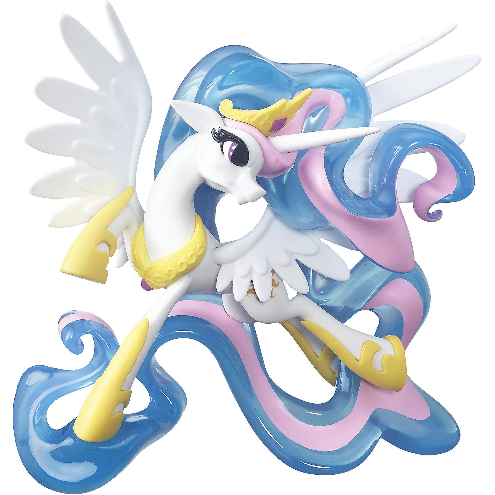 Коллекционная фигурка, Хранители гармонии, My little PonyКоллекционные и игровые фигурки<br>Коллекционная фигурка Принцесса Селестия, Хранители гармонии, My little Pony (Моя маленькая Пони).<br><br>Характеристика:<br><br>• Материал: пластик.   <br>• Размер фигурки: 20 см. <br>• Прекрасная детализация. <br>• Подвижные крылья.<br>• Накладки на копытца. <br>• Красивая развивающаяся грива. <br>• Оригинальная поза. <br><br>Фигурка «Принцесса» серии Guardians of Harmony приведет в восторг всех поклонниц My Little Pony (Май литл Пони)! Белая пони Селестия - с золотыми копытцами, короной, хвостом и гривой цвета утреннего неба выглядит воинственно и прекрасно. Игрушка выполнена из высококачественных материалов, детально проработана и реалистично раскрашена - очень похожа на героиню мультфильма. Прекрасное дополнение коллекции My Little Pony! <br><br>Коллекционную фигурку Принцесса Селестия, Хранители гармонии, My little Pony (Моя маленькая Пони), можно купить в нашем интернет-магазине.<br><br>Ширина мм: 81<br>Глубина мм: 227<br>Высота мм: 253<br>Вес г: 583<br>Возраст от месяцев: 48<br>Возраст до месяцев: 120<br>Пол: Женский<br>Возраст: Детский<br>SKU: 5344309