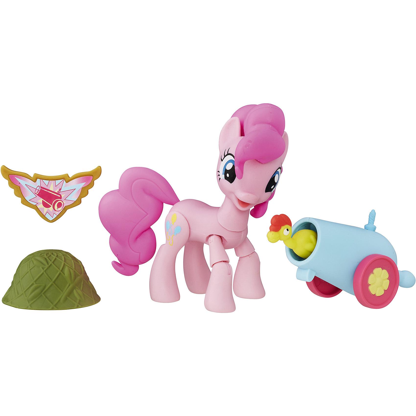Фигурка Хранители Гармонии -Пинки Пай, с артикуляцией, My little PonyФигурка Хранители Гармонии, Пинки Пай, с артикуляцией, My little Pony (Моя маленькая Пони). <br><br>Характеристика:<br><br>• Материал: пластик.   <br>• Размер упаковки: 20,3х15,2х5 см.<br>• Прекрасная детализация. <br>• Комплектация: фигурка, аксессуары (каска, пушка, курица), значок.<br>• 9 точек артикуляции: подвижные ноги и голова. <br><br>Фигурка серии Guardians of Harmony приведет в восторг всех поклонниц My Little Pony (Май литл Пони). Пинки пай - веселая, оптимистичная и дружелюбная пони, она обожает сладости, вечеринки и добрые розыгрыши. Фигурка пони отлично детализирована, реалистично раскрашена и очень похожа на своего мульт-прототипа. Игрушка имеет 9 точек артикуляции, может принимать различные позы, дополнена оригинальными съемными аксессуарами. Собери все фигурки серии Хранители гармонии и придумай свои оригинальные истории из жизни любимых лошадок! <br><br>Фигурку Хранители Гармонии, Пинки Пай, с артикуляцией, My little Pony (Моя маленькая Пони) можно купить в нашем интернет-магазине.<br><br>Ширина мм: 51<br>Глубина мм: 203<br>Высота мм: 165<br>Вес г: 171<br>Возраст от месяцев: 48<br>Возраст до месяцев: 120<br>Пол: Женский<br>Возраст: Детский<br>SKU: 5344311