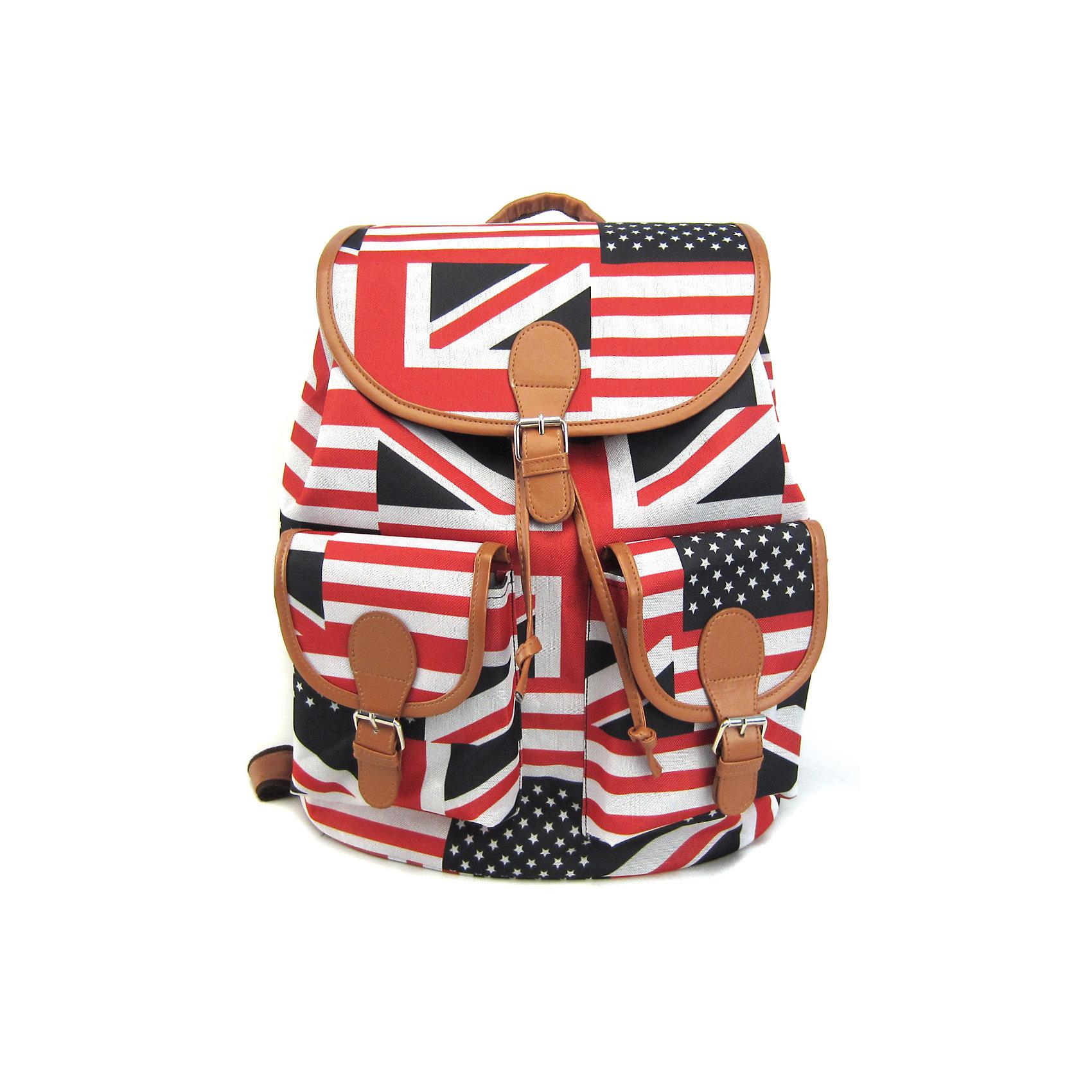 Рюкзак British Flag с 2-мя карманами, цвет мультиРюкзаки<br>Эта красно-бело-черная расцветка – на пике популярности уже не первый сезон! С таким стильным и удобным рюкзаком его владелица точно не останется незамеченной, даже в суете большого города! Этот аксессуар органично впишется в современный подростковый стиль, а благодаря функциональности и удобству – станет любимым и незаменимым!<br><br>Ширина мм: 39<br>Глубина мм: 35<br>Высота мм: 17<br>Вес г: 500<br>Возраст от месяцев: 120<br>Возраст до месяцев: 420<br>Пол: Унисекс<br>Возраст: Детский<br>SKU: 5344316