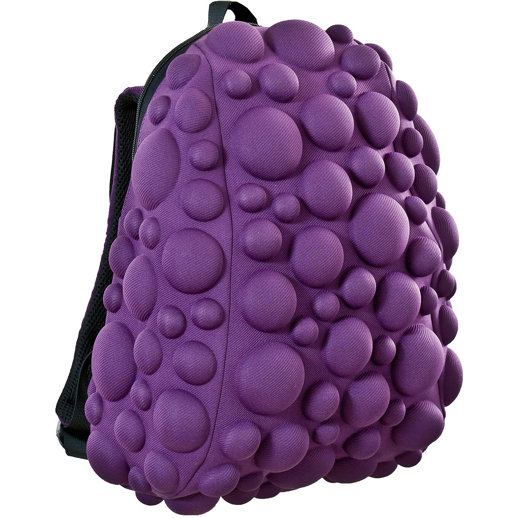 Рюкзак Bubble HalfРюкзаки<br>Легкий и вместительный рюкзак с одним основным отделением с застежкой на молниии. В основное отделение с легкостью входит ноутбук  размером диагонали 13 дюймов, iPad и формат А4. Незаменимый аксессуар как для активного городского жителя, так и для школьников и студентов. Широкие лямки можно регулировать для наиболее удобной посадки, а мягкая ортопедическая спинка делает ношение наиболее удобным и комфортным. Размер 35х30х15 см, цвет Slurple (фиолетовый), 100% полиспандекс, MadPax, США<br><br>Ширина мм: 35<br>Глубина мм: 30<br>Высота мм: 15<br>Вес г: 600<br>Возраст от месяцев: 84<br>Возраст до месяцев: 420<br>Пол: Унисекс<br>Возраст: Детский<br>SKU: 5344323