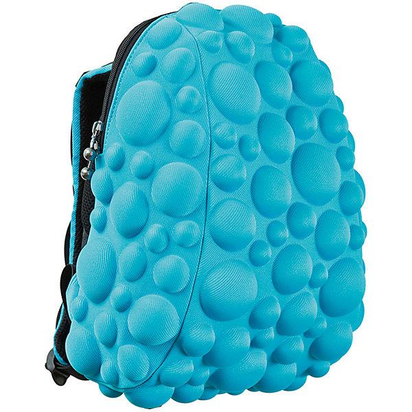 Рюкзак Bubble HalfРюкзаки<br>Легкий и вместительный рюкзак с одним основным отделением с застежкой на молниии. В основное отделение с легкостью входит ноутбук  размером диагонали 13 дюймов, iPad и формат А4. Незаменимый аксессуар как для активного городского жителя, так и для школьников и студентов. Широкие лямки можно регулировать для наиболее удобной посадки, а мягкая ортопедическая спинка делает ношение наиболее удобным и комфортным. Размер 35х30х15 см, цвет голубой, 100% полиспандекс, MadPax, США<br>Ширина мм: 35; Глубина мм: 30; Высота мм: 15; Вес г: 600; Возраст от месяцев: 84; Возраст до месяцев: 420; Пол: Унисекс; Возраст: Детский; SKU: 5344324;