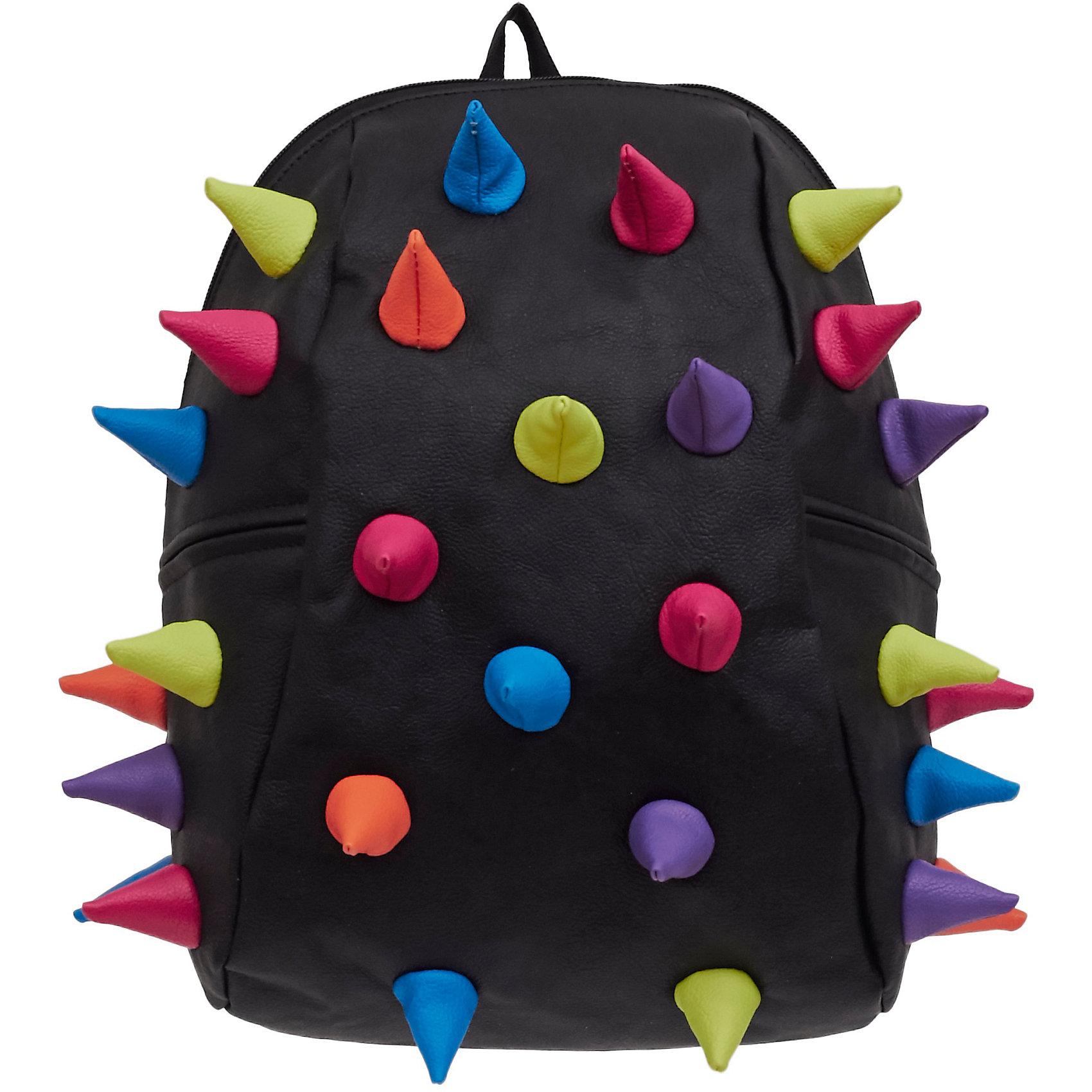 Рюкзак Rex 2 Half Mascarade, цвет черный мультиРюкзаки<br>Легкий и вместительный рюкзак с одним основным отделением с застежкой на молниии. В основное отделение с легкостью входит ноутбук  размером диагонали 13 дюймов, iPad и формат А4. Незаменимый аксессуар как для активного городского жителя, так и для школьников и студентов. Широкие лямки можно регулировать для наиболее удобной посадки, а мягкая ортопедическая спинка делает ношение наиболее удобным и комфортным.<br><br>Ширина мм: 36<br>Глубина мм: 31<br>Высота мм: 15<br>Вес г: 600<br>Возраст от месяцев: 84<br>Возраст до месяцев: 420<br>Пол: Унисекс<br>Возраст: Детский<br>SKU: 5344325