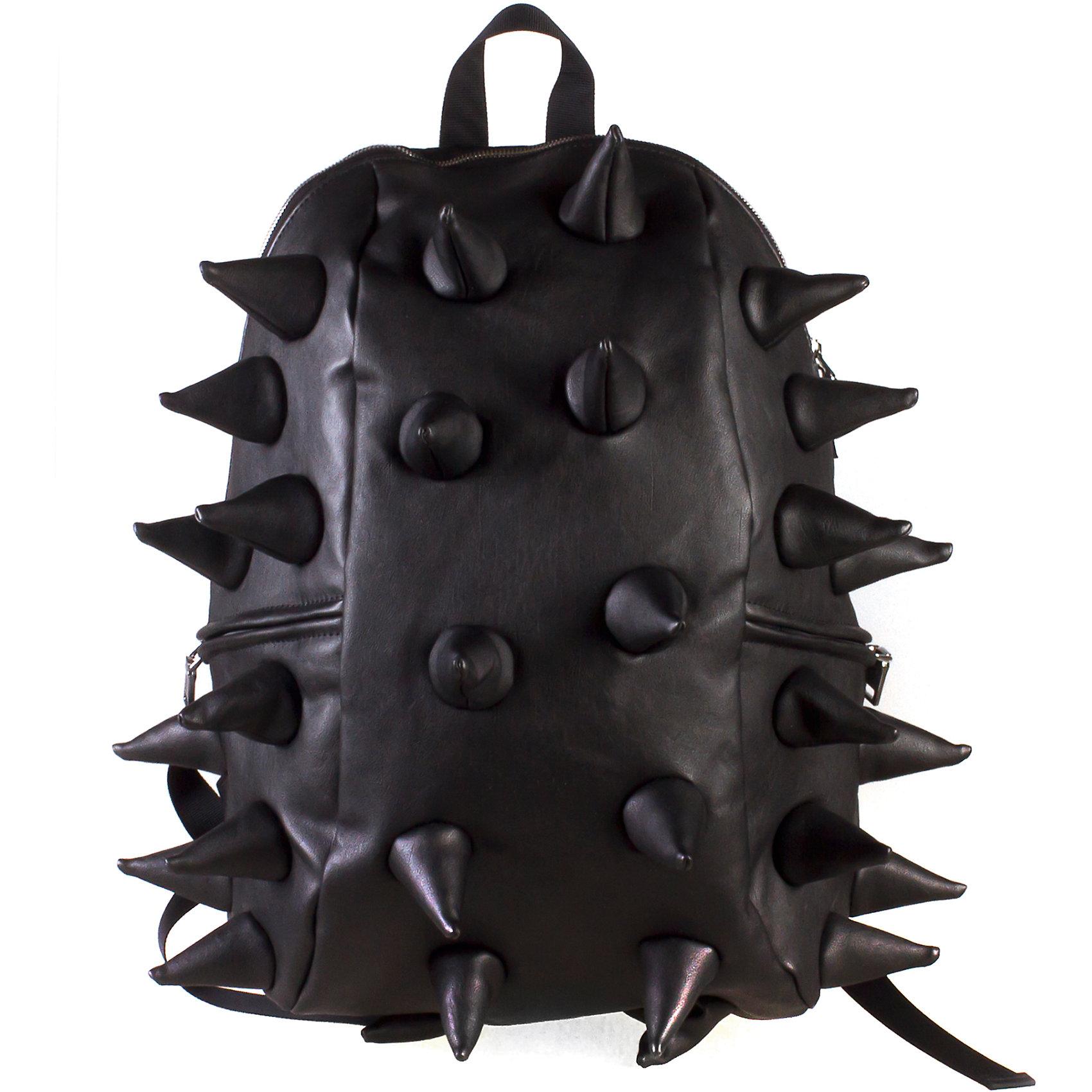 Рюкзак Rex Full Heavy Metal Black, цвет черный, MadPax, СШАСтильный и практичный рюкзак уместный в ритме большого города. Основное отделение закрывается на молнию. Внутри изделия есть отделение для ноутбука с максимальным размером диагонали 17 дюймов. По бокам - два дополнительных кармана на молнии. Модель помимо лямки для переноски в руке, мягких и широких регулируемых бретелей снабжена фиксацией на груди. Полностью вентилируемая и ортопедическая  спинка создаёт дополнительный комфорт Вашей спине.<br><br>Ширина мм: 46<br>Глубина мм: 35<br>Высота мм: 20<br>Вес г: 800<br>Возраст от месяцев: 120<br>Возраст до месяцев: 420<br>Пол: Унисекс<br>Возраст: Детский<br>SKU: 5344334