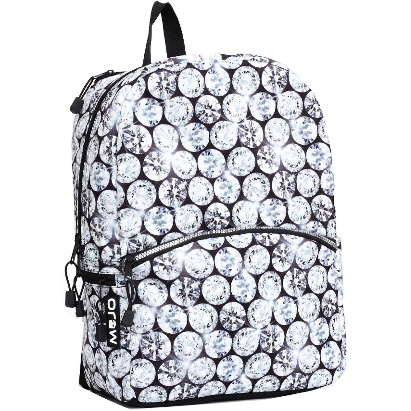Рюкзак Diamonds LED со встроенными светодиодами, цвет мультиОтличный вместительный рюкзак очень динамично впишется в ваш городской ритм. MOJO продолжает удивлять! Встроенные в оригинальный принт рюкзака светодиодные лампочки будут светиться и мигать при движении. Как только вы остановитесь, рюкзак успокоится вместе с вами. А мигание лампочек подчеркнет всю красоту и блекск алмазов этого рюкзака.<br><br>Ширина мм: 43<br>Глубина мм: 30<br>Высота мм: 16<br>Вес г: 700<br>Возраст от месяцев: 120<br>Возраст до месяцев: 420<br>Пол: Унисекс<br>Возраст: Детский<br>SKU: 5344336