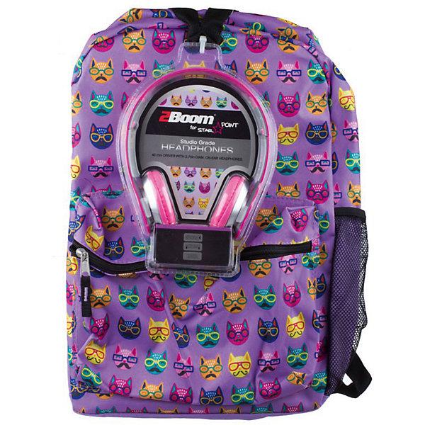 Рюкзак Cats с наушниками, цвет сиреневыйРюкзаки<br>Универсальный рюкзак — для школы, спорта или просто для прогулки.<br>Мягкие регулируемые наплечные лямки.<br>Укрепленная спинка.<br><br>Ширина мм: 43<br>Глубина мм: 33<br>Высота мм: 16<br>Вес г: 700<br>Возраст от месяцев: 120<br>Возраст до месяцев: 420<br>Пол: Унисекс<br>Возраст: Детский<br>SKU: 5344338