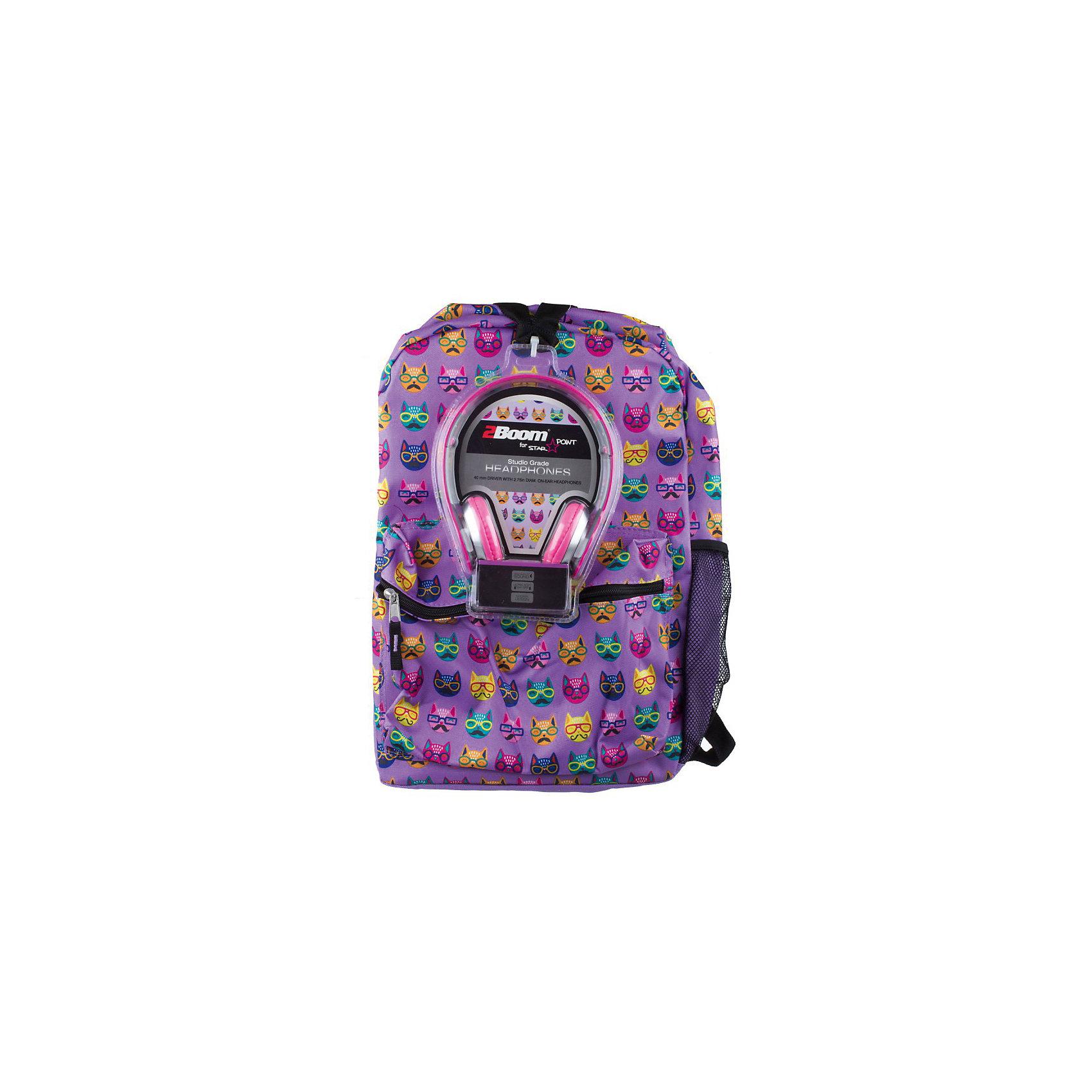 Рюкзак Cats с наушниками, цвет сиреневыйУниверсальный рюкзак — для школы, спорта или просто для прогулки.<br>Мягкие регулируемые наплечные лямки.<br>Укрепленная спинка.<br><br>Ширина мм: 43<br>Глубина мм: 33<br>Высота мм: 16<br>Вес г: 700<br>Возраст от месяцев: 120<br>Возраст до месяцев: 420<br>Пол: Унисекс<br>Возраст: Детский<br>SKU: 5344338