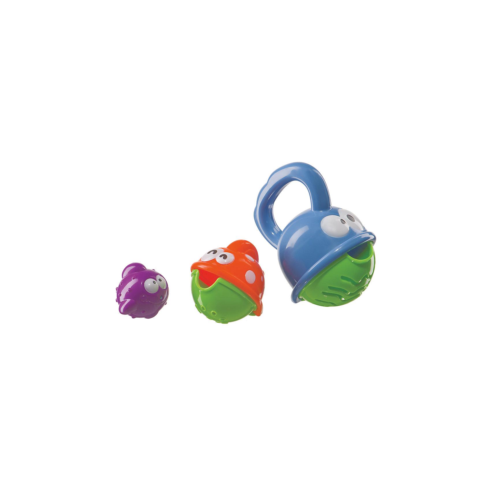 Игрушка для ванной FISHERY, Happy BabyИгровые наборы<br>Характеристики:<br><br>• Предназначение: для игр в ванной, для развивающих игр<br>• Пол: универсальный<br>• Материал: пластик <br>• Комплектация: три рыбки разного размера и цвета<br>• Вес: 126 г<br>• Размеры упаковки (Д*В*Ш): 14,5*24*6 см<br>• Упаковка: блистер на картоне<br>• Особенности ухода: можно мыть в теплой мыльной воде<br><br>Игрушка для ванной FISHERY, Happy Baby – это многофункциональная игрушка, предназначенная для игр с водой или песком, а также для развивающих занятий. Набор состоит из трех рыбок в форме шаров, на брюшках у которых разные формы отверстий. Игрушка выполнены из безопасного пластика ярких цветов. <br><br>С помощью этого набора ребенок может познакомиться со таким свойством воды, как текучесть. Изучить цвета или значение больше-меньше. Игрушки можно собирать по типу матрешки: одна в другую. Самую маленькую рыбку можно использовать в качестве брызгалки. С игрушкой для ванной FISHERY, Happy Baby купание вашего малыша будет не только приятным и увлекательным, но и познавательным времяпрепровождением.<br><br>Игрушку для ванной FISHERY, Happy Baby можно купить в нашем интернет-магазине.<br><br>Ширина мм: 65<br>Глубина мм: 145<br>Высота мм: 245<br>Вес г: 126<br>Возраст от месяцев: 3<br>Возраст до месяцев: 36<br>Пол: Унисекс<br>Возраст: Детский<br>SKU: 5345684