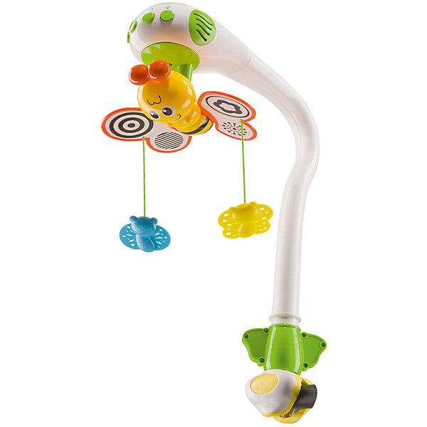 Музыкальный мобиль с проектором, Happy BabyИгрушки для новорожденных<br>Характеристики товара:<br><br>• возраст: с рождения<br>• материал: пластик<br>• тип батареек: 3 шт. Х 1.5V AA<br>• наличие батареек: не входят в комплект<br>• наличие проектора<br>• наличие музыкального блока<br>• кнопка включения/выключения механизма вращения бабочки на 360 градусов<br>• кнопка включения/выключения проектора<br>• кнопка включения/выключения мелодий<br>• 3 красивых мелодии для сна, пение птиц и сверчков, шум волн и журчание воды<br>• кнопка возврата проигрывания мелодий с самого начала<br>• кнопка для регулировки 1 из 3 уровней громкости<br>• вес: 0,97 кг<br>• размер упаковки: 44х16х22 см<br>• страна бренда: Великобритания<br><br>Музыкальный мобиль – фаворит среди интерьерных игрушек для детской комнату. Проектор устанавливается на кроватку и успокаивает малыша перед сном с помощью приятной музыки и крутящихся бабочек.<br><br>Музыкальный мобиль с проектором от известного бренда Happy Baby можно купить в нашем интернет-магазине.<br>Ширина мм: 9999; Глубина мм: 9999; Высота мм: 9999; Вес г: 9999; Возраст от месяцев: 0; Возраст до месяцев: 36; Пол: Унисекс; Возраст: Детский; SKU: 5345686;