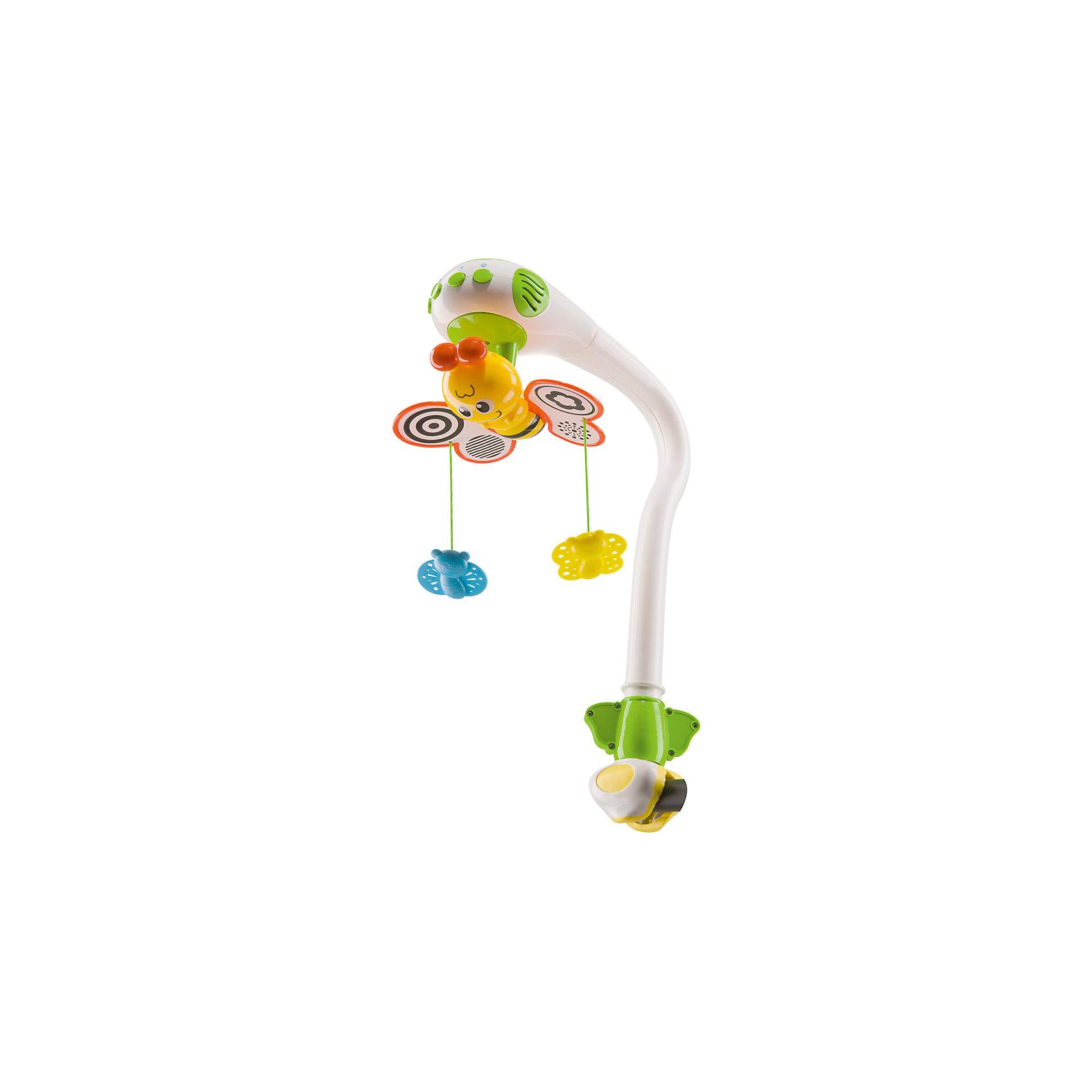 Музыкальный мобиль с проектором, Happy BabyИгрушки для малышей<br>Характеристики товара:<br><br>• возраст: с рождения<br>• материал: пластик<br>• тип батареек: 3 шт. Х 1.5V AA<br>• наличие батареек: не входят в комплект<br>• наличие проектора<br>• наличие музыкального блока<br>• кнопка включения/выключения механизма вращения бабочки на 360 градусов<br>• кнопка включения/выключения проектора<br>• кнопка включения/выключения мелодий<br>• 3 красивых мелодии для сна, пение птиц и сверчков, шум волн и журчание воды<br>• кнопка возврата проигрывания мелодий с самого начала<br>• кнопка для регулировки 1 из 3 уровней громкости<br>• вес: 0,97 кг<br>• размер упаковки: 44х16х22 см<br>• страна бренда: Великобритания<br><br>Музыкальный мобиль – фаворит среди интерьерных игрушек для детской комнату. Проектор устанавливается на кроватку и успокаивает малыша перед сном с помощью приятной музыки и крутящихся бабочек.<br><br>Музыкальный мобиль с проектором от известного бренда Happy Baby можно купить в нашем интернет-магазине.<br><br>Ширина мм: 9999<br>Глубина мм: 9999<br>Высота мм: 9999<br>Вес г: 9999<br>Возраст от месяцев: 0<br>Возраст до месяцев: 36<br>Пол: Унисекс<br>Возраст: Детский<br>SKU: 5345686