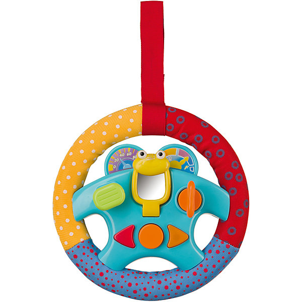Руль RUDDER, Happy BabyИгрушки для новорожденных<br>Характеристики товара:<br><br>• материал: пластик, текстиль<br>• тип батареек: 2 шт типа АА<br>• наличие батареек: входят в комплект<br>• звуковые и световые эффекты<br>• удобный крепёж на липучке<br>• наличие разных материалов<br>• наличие движущихся предметов<br>• вес: 0,15 кг<br>• размер упаковки: 65х18х21,5<br>• страна бренда: Великобритания<br><br>Руль – интересная форма для оформления комплексной развивающей игрушки. Кнопки, рычаги и поворотники образуют систему игр, развивающих мышление, мелкую моторику и память. Игрушку можно подвесить в любое удобное место за специальный крепеж – липучку. Материалы, использованные при изготовлении товаров, проходят проверку на качество и соответствие международным требованиям по безопасности.<br><br>Товар «Руль RUDDER, Happy Baby» можно купить в нашем интернет-магазине.<br>Ширина мм: 9999; Глубина мм: 9999; Высота мм: 9999; Вес г: 9999; Возраст от месяцев: 3; Возраст до месяцев: 36; Пол: Унисекс; Возраст: Детский; SKU: 5345689;