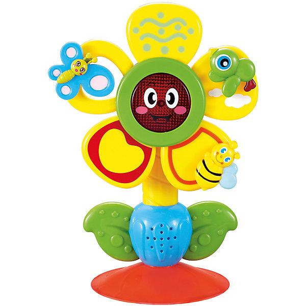 Музыкальная игрушка на присоске FUN FLOWER, Happy BabyИнтерактивные игрушки для малышей<br>Характеристики товара:<br><br>• возраст: от 18 месяцев<br>• материал: пластик<br>• тип батареек: 2 шт АА<br>• наличие батареек: не входят в комплект<br>• наличие светового элемента<br>• наличие звуковых эффектов<br>• надёжное крепление-присоска<br>• наличие вращающихся элементов<br>• вес в упаковке: 340 грамм<br>• размер упаковки: 58x51x26 см<br>• страна бренда: Великобритания<br><br>Яркий цвет станет одной из любимых игрушек вашего малыша, благодаря набору удивительных звуков, которые он может издавать при взаимодействии с ним. Интерактивная игрушка работает с тактильными ощущениями малыша и помогает развивать память, зрительное восприятие и мелкую моторику. Материалы, использованные при изготовлении товаров, проходят проверку на качество и соответствие международным требованиям по безопасности.<br><br>Товар «Музыкальная игрушка на присоске FUN FLOWER, Happy Baby» можно купить в нашем интернет-магазине.<br>Ширина мм: 9999; Глубина мм: 9999; Высота мм: 9999; Вес г: 9999; Возраст от месяцев: 18; Возраст до месяцев: 36; Пол: Унисекс; Возраст: Детский; SKU: 5345692;