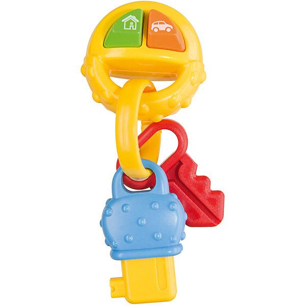 Игрушка PIP-PIP KEYS, Happy BabyИнтерактивные игрушки для малышей<br>Характеристики товара:<br><br>• возраст: от 6 месяцев;<br>• материал: пластик;<br>• тип батареек: 2 батарейки LR44;<br>• наличие батареек: в комплекте;<br>• размер упаковки: 24х15х5 см;<br>• вес упаковки: 90 гр.;<br>• страна производитель: Китай.<br><br>Игрушка «PIP-PIP Keys» Happy Baby - развивающая игрушка для малышей, которая способствует развитию тактильных ощущений, мелкой моторики рук, цветового и зрительного восприятия. В процессе игры ребенок учится различать звуки, так как игрушка издает звуки автомобиля и звонка в дверь.<br><br>Фактурная поверхность позволяет использовать игрушку как прорезыватель для зубов, который снимет неприятные ощущения у малыша во время появления первых зубов. Игрушка изготовлена из качественного безопасного пластика.<br><br>Игрушку «PIP-PIP Keys» Happy Baby можно приобрести в нашем интернет-магазине.<br>Ширина мм: 45; Глубина мм: 135; Высота мм: 235; Вес г: 90; Возраст от месяцев: 6; Возраст до месяцев: 36; Пол: Унисекс; Возраст: Детский; SKU: 5345693;