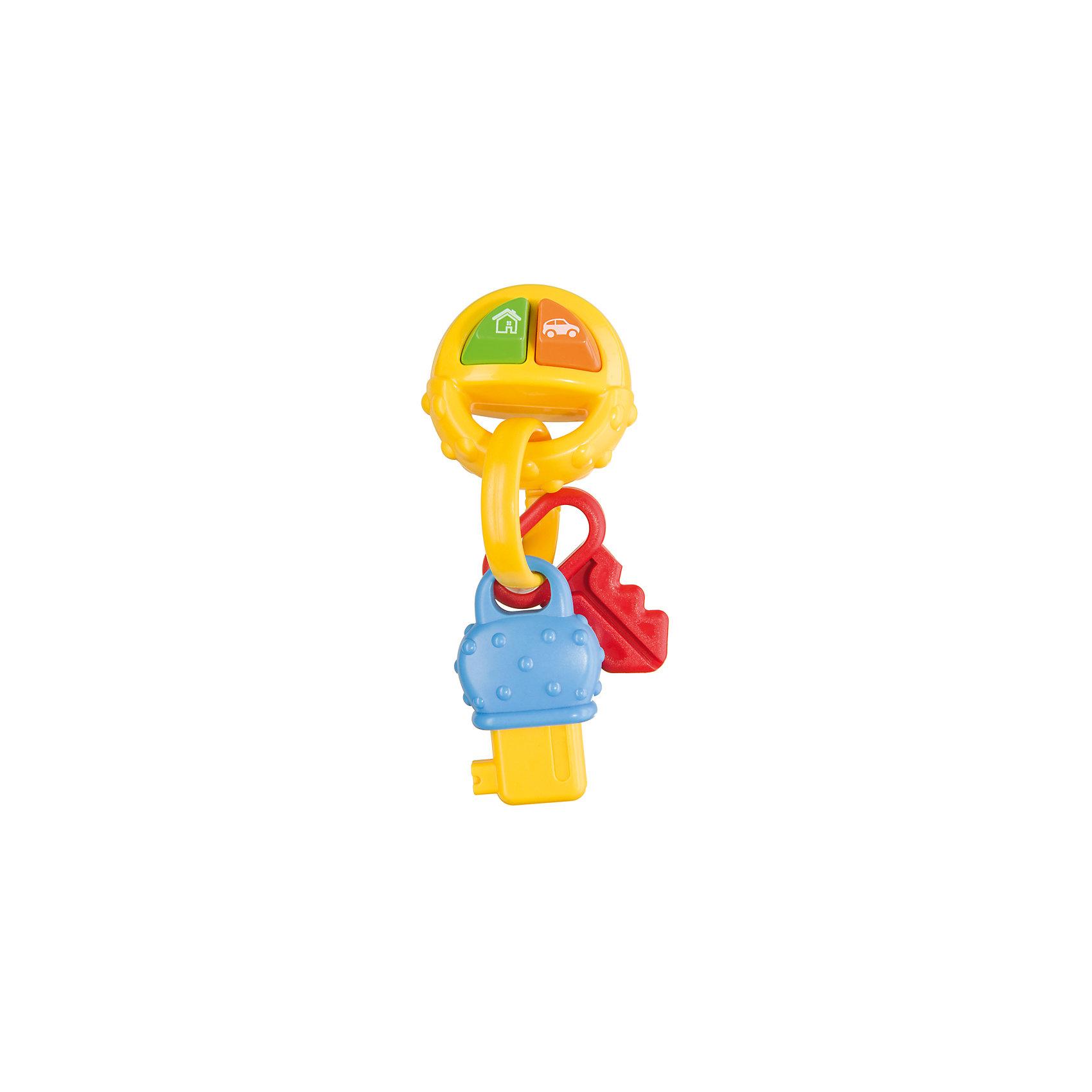 Игрушка PIP-PIP KEYS, Happy BabyРазвивающие игрушки<br>Характеристики товара:<br><br>• возраст: от 6 месяцев;<br>• материал: пластик;<br>• тип батареек: 2 батарейки LR44;<br>• наличие батареек: в комплекте;<br>• размер упаковки: 24х15х5 см;<br>• вес упаковки: 90 гр.;<br>• страна производитель: Китай.<br><br>Игрушка «PIP-PIP Keys» Happy Baby - развивающая игрушка для малышей, которая способствует развитию тактильных ощущений, мелкой моторики рук, цветового и зрительного восприятия. В процессе игры ребенок учится различать звуки, так как игрушка издает звуки автомобиля и звонка в дверь.<br><br>Фактурная поверхность позволяет использовать игрушку как прорезыватель для зубов, который снимет неприятные ощущения у малыша во время появления первых зубов. Игрушка изготовлена из качественного безопасного пластика.<br><br>Игрушку «PIP-PIP Keys» Happy Baby можно приобрести в нашем интернет-магазине.<br><br>Ширина мм: 45<br>Глубина мм: 135<br>Высота мм: 235<br>Вес г: 90<br>Возраст от месяцев: 6<br>Возраст до месяцев: 36<br>Пол: Унисекс<br>Возраст: Детский<br>SKU: 5345693