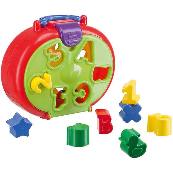 Игрушка-сортер Happy Baby «IQ-Sorter»Развивающие игрушки<br>Характеристики товара:<br><br>• возраст: от 1,5 лет;<br>• материал: пластик;<br>• в комплекте: сортер, 12 фигурок;<br>• размер упаковки: 24х19,5х9 см;<br>• вес упаковки: 350 гр.;<br>• страна производитель: Китай.<br><br>Игрушка-сортер «IQ-Sorter» Happy Baby — развивающая игрушка, выполненная в виде чемоданчика с отверстиями разной формы. Подбирая для каждого отверстия подходящую фигурку, малыш учится различать формы предметов. В процессе у него развиваются логическое мышление, интеллект, сообразительность.<br><br>Чемоданчик закрывается, и все элементы можно хранить внутри после игры. Игрушка выполнена из качественного безвредного пластика.<br><br>Игрушку-сортер «IQ-Sorter» Happy Baby можно приобрести в нашем интернет-магазине.<br>Ширина мм: 13; Глубина мм: 195; Высота мм: 195; Вес г: 438; Возраст от месяцев: 18; Возраст до месяцев: 2147483647; Пол: Унисекс; Возраст: Детский; SKU: 5345697;
