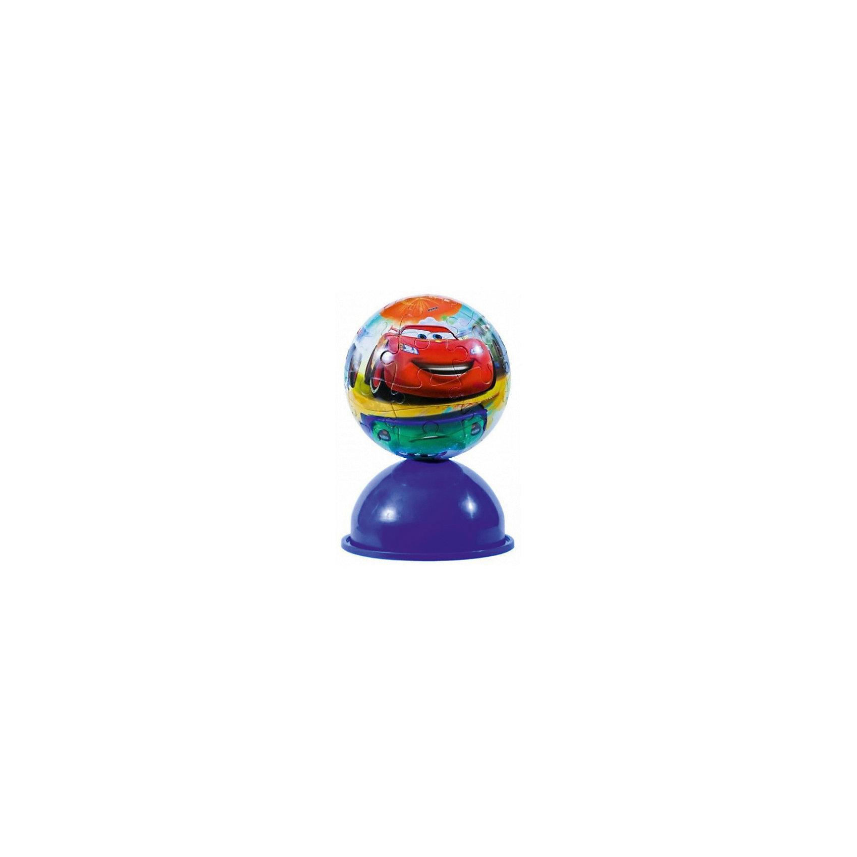Пазл-шар Тачки, 24 детали, Disney3D пазлы<br>Характеристики товара:<br><br>• возраст: от 3 лет;<br>• материал: пластик;<br>• в комплекте: 24 элемента, подставка;<br>• диаметр шара: 12 см;<br>• размер упаковки: 20,5х18,5х6 см;<br>• вес упаковки: 380 гр.;<br>• страна производитель: Россия.<br><br>Пазл-шар «Тачки» Disney Step Puzzle — оригинальный пазл, элементы которого имеют изогнутую форму и собираются вместе, образуя шар. Собрав его, получается объемная фигура с изображениями любимых героев мультфильма «Тачки». <br><br>В процессе сборки пазла развиваются мелкая моторика рук, усидчивость, внимательность, логическое мышление. Все детали выполнены из качественного прочного пластика и надежно скрепляются между собой.<br><br>Пазл-шар «Тачки» Disney Step Puzzle можно приобрести в нашем интернет-магазине.<br><br>Ширина мм: 205<br>Глубина мм: 185<br>Высота мм: 60<br>Вес г: 380<br>Возраст от месяцев: 36<br>Возраст до месяцев: 2147483647<br>Пол: Мужской<br>Возраст: Детский<br>Количество деталей: 24<br>SKU: 5346203