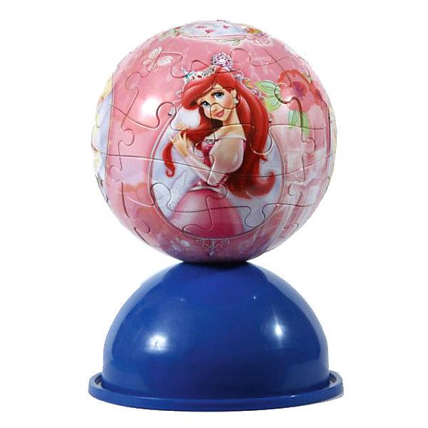 Пазл-шар Принцессы, 24 детали, Disney3D пазлы<br>Характеристики товара:<br><br>• возраст: от 3 лет;<br>• материал: пластик;<br>• в комплекте: 24 элемента, подставка;<br>• диаметр шара: 12 см;<br>• размер упаковки: 20,5х18,5х6 см;<br>• вес упаковки: 380 гр.;<br>• страна производитель: Россия.<br><br>Пазл-шар «Принцессы» Disney Step Puzzle — оригинальный пазл, элементы которого имеют изогнутую форму и собираются вместе, образуя шар. Собрав его, получается объемная фигура с изображениями принцесс Дисней.<br><br>В процессе сборки пазла развиваются мелкая моторика рук, усидчивость, внимательность, логическое мышление. Все детали выполнены из качественного прочного пластика и надежно скрепляются между собой.<br><br>Пазл-шар «Принцессы» Disney Step Puzzle можно приобрести в нашем интернет-магазине.<br>Ширина мм: 205; Глубина мм: 185; Высота мм: 60; Вес г: 380; Возраст от месяцев: 36; Возраст до месяцев: 2147483647; Пол: Женский; Возраст: Детский; Количество деталей: 24; SKU: 5346205;