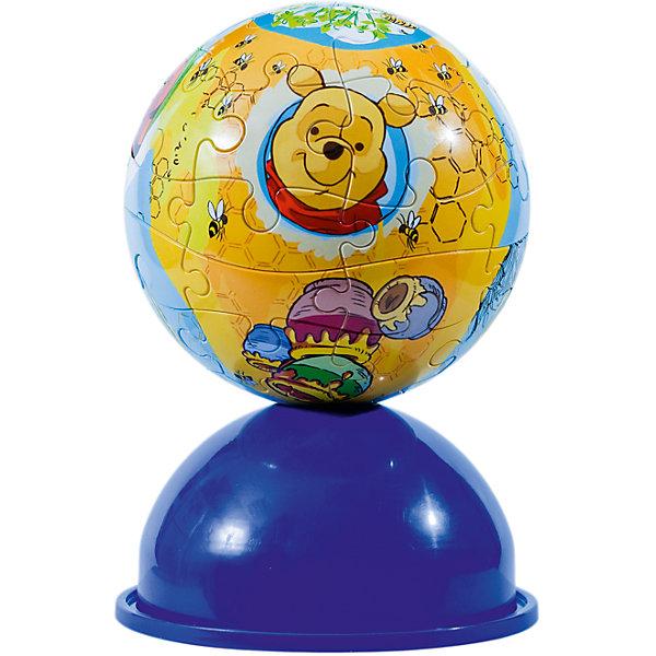 Пазл-шар  Медвежонок Винни, 24 детали, Disney3D пазлы<br>Характеристики товара:<br><br>• возраст: от 3 лет;<br>• материал: пластик;<br>• в комплекте: 24 элемента, подставка;<br>• диаметр шара: 12 см;<br>• размер упаковки: 20,5х18,5х6 см;<br>• вес упаковки: 380 гр.;<br>• страна производитель: Россия.<br><br>Пазл-шар «Медвежонок Винни» Disney Step Puzzle — оригинальный пазл, элементы которого имеют изогнутую форму и собираются вместе, образуя шар. Собрав его, получается объемная фигура с изображениями персонажей мультфильма про Винни Пуха. <br><br>В процессе сборки пазла развиваются мелкая моторика рук, усидчивость, внимательность, логическое мышление. Все детали выполнены из качественного прочного пластика и надежно скрепляются между собой.<br><br>Пазл-шар «Медвежонок Винни» Disney Step Puzzle можно приобрести в нашем интернет-магазине.<br>Ширина мм: 205; Глубина мм: 185; Высота мм: 60; Вес г: 380; Возраст от месяцев: 36; Возраст до месяцев: 2147483647; Пол: Унисекс; Возраст: Детский; Количество деталей: 24; SKU: 5346206;