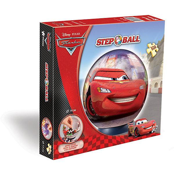 Пазл-шар  Тачки, 108 деталей, Disney3D пазлы<br>Характеристики товара:<br><br>• возраст: от 6 лет;<br>• материал: пластик;<br>• в комплекте: 108 элементов, подставка;<br>• диаметр шара: 14 см;<br>• размер упаковки: 23х21,5х5 см;<br>• вес упаковки: 330 гр.;<br>• страна производитель: Россия.<br><br>Пазл-шар «Тачки» Disney Step Puzzle — оригинальный пазл, элементы которого имеют изогнутую форму и собираются вместе, образуя шар. Собрав его, получается объемная фигура с изображениями любимых героев мультфильма «Тачки». <br><br>В процессе сборки пазла развиваются мелкая моторика рук, усидчивость, внимательность, логическое мышление. Все детали выполнены из качественного прочного пластика и надежно скрепляются между собой.<br><br>Пазл-шар «Тачки» Disney Step Puzzle можно приобрести в нашем интернет-магазине.<br><br>Ширина мм: 230<br>Глубина мм: 215<br>Высота мм: 50<br>Вес г: 330<br>Возраст от месяцев: 72<br>Возраст до месяцев: 2147483647<br>Пол: Мужской<br>Возраст: Детский<br>Количество деталей: 108<br>SKU: 5346211