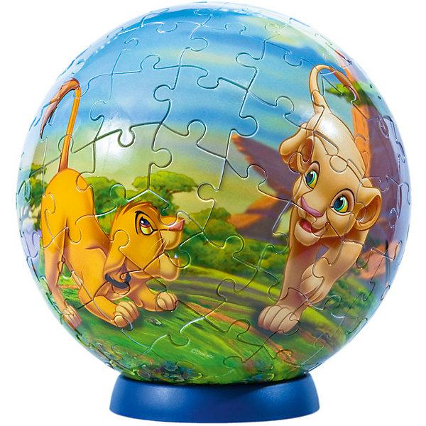 Пазл-шар Король Лев, 108 деталей, Disney3D пазлы<br>Характеристики товара:<br><br>• возраст: от 6 лет;<br>• материал: пластик;<br>• в комплекте: 108 элементов, подставка;<br>• диаметр шара: 14 см;<br>• размер упаковки: 23х21,5х5 см;<br>• вес упаковки: 330 гр.;<br>• страна производитель: Россия.<br><br>Пазл-шар «Король Лев» Disney Step Puzzle — оригинальный пазл, элементы которого имеют изогнутую форму и собираются вместе, образуя шар. Собрав его, получается объемная фигура с изображениями любимых героев мультфильма.<br><br>В процессе сборки пазла развиваются мелкая моторика рук, усидчивость, внимательность, логическое мышление. Все детали выполнены из качественного прочного пластика и надежно скрепляются между собой.<br><br>Пазл-шар «Король Лев» Disney Step Puzzle можно приобрести в нашем интернет-магазине.<br>Ширина мм: 230; Глубина мм: 215; Высота мм: 50; Вес г: 330; Возраст от месяцев: 72; Возраст до месяцев: 2147483647; Пол: Унисекс; Возраст: Детский; Количество деталей: 108; SKU: 5346212;
