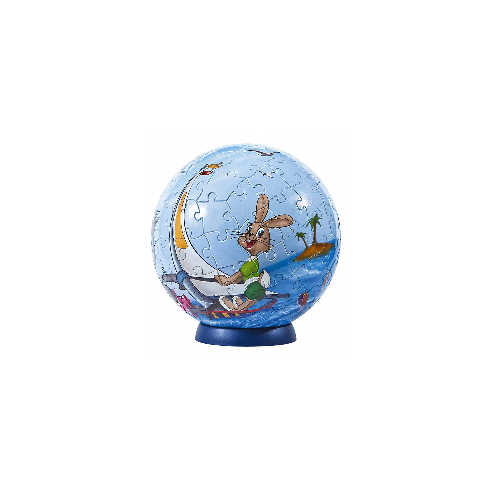 Пазл-шар Ну, погоди!, 108 деталейПазлы-шары<br>Характеристики товара:<br><br>• возраст: от 6 лет;<br>• материал: пластик;<br>• в комплекте: 108 элементов, подставка;<br>• диаметр шара: 14 см;<br>• размер упаковки: 23х21,5х5 см;<br>• вес упаковки: 330 гр.;<br>• страна производитель: Россия.<br><br>Пазл-шар «Ну, погоди!» Step Puzzle — оригинальный пазл, элементы которого имеют изогнутую форму и собираются вместе, образуя шар. Собрав его, получается объемная фигура с изображениями персонажей мультфильма про приключения волка и зайца.<br><br>В процессе сборки пазла развиваются мелкая моторика рук, усидчивость, внимательность, логическое мышление. Все детали выполнены из качественного прочного пластика и надежно скрепляются между собой.<br><br>Пазл-шар «Ну, погоди!» Step Puzzle можно приобрести в нашем интернет-магазине.<br><br>Ширина мм: 230<br>Глубина мм: 215<br>Высота мм: 50<br>Вес г: 330<br>Возраст от месяцев: 72<br>Возраст до месяцев: 2147483647<br>Пол: Унисекс<br>Возраст: Детский<br>Количество деталей: 108<br>SKU: 5346219