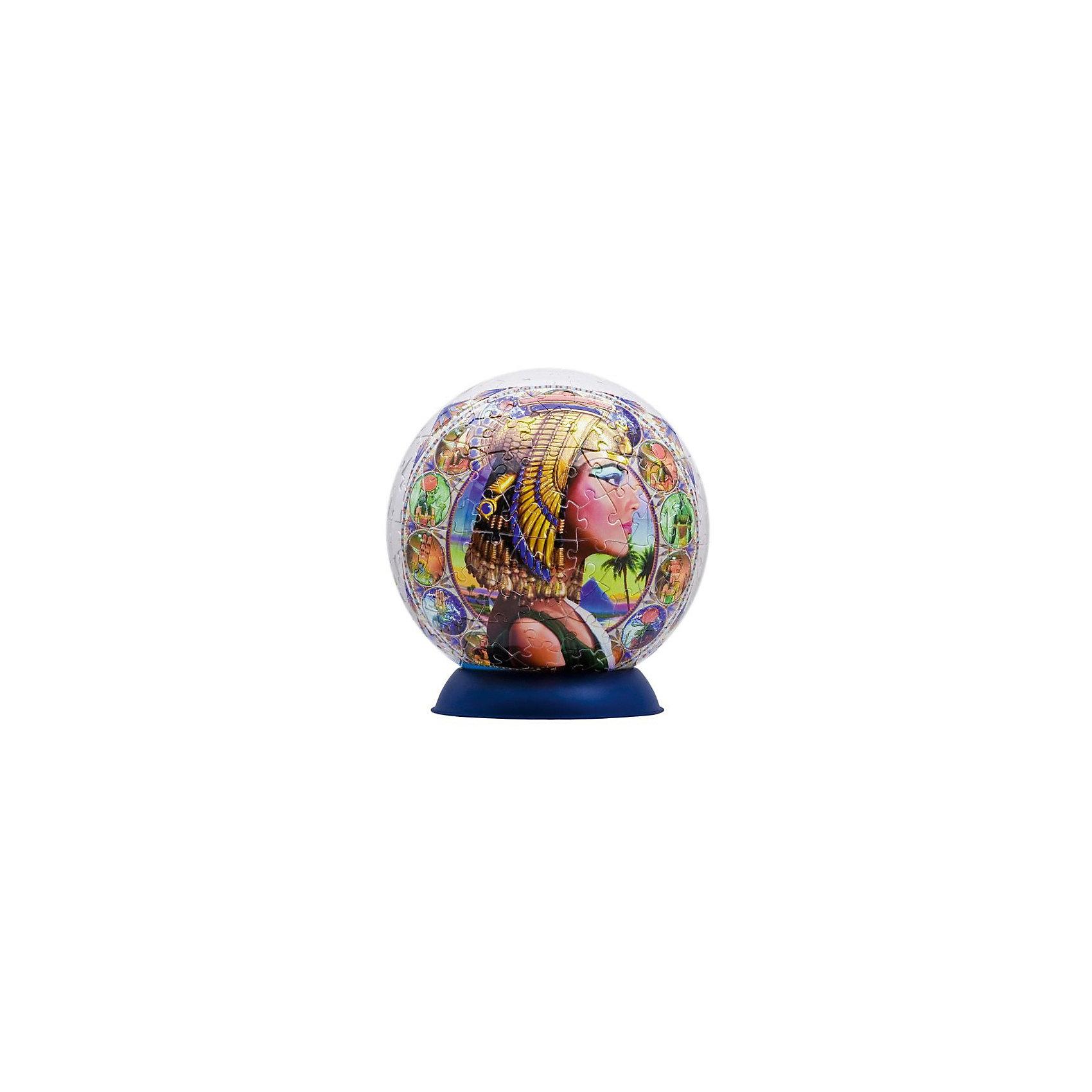 Пазл-шар Принцессы Египта, 240 деталей3D пазлы<br>Характеристики товара:<br><br>• возраст: от 6 лет;<br>• материал: пластик;<br>• в комплекте: 240 элементов, подставка;<br>• диаметр шара: 15 см;<br>• размер упаковки: 23х21,5х5 см;<br>• вес упаковки: 370 гр.;<br>• страна производитель: Россия.<br><br>Пазл-шар «Принцессы Египта» Step Puzzle — оригинальный пазл, элементы которого имеют изогнутую форму и собираются вместе, образуя шар. Собрав его, получается объемная фигура с изображениями египетских принцесс.<br><br>В процессе сборки пазла развиваются мелкая моторика рук, усидчивость, внимательность, логическое мышление. Все детали выполнены из качественного прочного пластика и надежно скрепляются между собой.<br><br>Пазл-шар «Принцессы Египта» Step Puzzle можно приобрести в нашем интернет-магазине.<br><br>Ширина мм: 230<br>Глубина мм: 215<br>Высота мм: 50<br>Вес г: 370<br>Возраст от месяцев: 72<br>Возраст до месяцев: 2147483647<br>Пол: Унисекс<br>Возраст: Детский<br>Количество деталей: 240<br>SKU: 5346222
