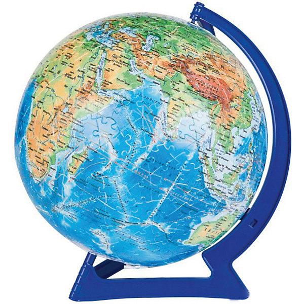 Пазл-шар  Физическая карта мира, 540 деталей3D пазлы<br>Характеристики товара:<br><br>• возраст: от 6 лет;<br>• материал: пластик;<br>• в комплекте: 540 элементов, подставка;<br>• диаметр шара: 23 см;<br>• размер упаковки: 27,5х27,5х7,5 см;<br>• вес упаковки: 850 гр.;<br>• страна производитель: Россия.<br><br>Пазл-шар «Физическая карта мира» Step Puzzle — оригинальный пазл, элементы которого имеют изогнутую форму и собираются вместе, образуя шар. Собрав его, получается самый настоящий глобус, который может служить отличным дополнением при изучении географии в школе.<br><br>В процессе сборки пазла развиваются мелкая моторика рук, усидчивость, внимательность, логическое мышление. Все детали выполнены из качественного прочного пластика и надежно скрепляются между собой.<br><br>Пазл-шар «Физическая карта мира» Step Puzzle можно приобрести в нашем интернет-магазине.<br><br>Ширина мм: 275<br>Глубина мм: 275<br>Высота мм: 75<br>Вес г: 850<br>Возраст от месяцев: 72<br>Возраст до месяцев: 2147483647<br>Пол: Унисекс<br>Возраст: Детский<br>Количество деталей: 540<br>SKU: 5346235