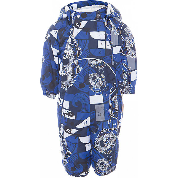 Комбинезон GOLDEN для мальчика HuppaВерхняя одежда<br>Характеристики товара:<br><br>• цвет: тёмно-синий принт<br>• ткань: 100% полиэстер<br>• подкладка: фланель - 100% хлопок<br>• утеплитель: 100% полиэстер 100 г<br>• температурный режим: от -5°С до +10°С<br>• водонепроницаемость: 10000 мм<br>• воздухопроницаемость: 10000 мм<br>• светоотражающие детали<br>• мягкая подкладка<br>• шов сидения и боковые швы проклеены<br>• съёмный капюшон с резинкой<br>• манжеты рукавов с резинкой<br>• манжеты с отворотом у размеров 62-80<br>• манжеты брюк с резинкой<br>• съёмные эластичные штрипки<br>• без внутренних швов<br>• коллекция: весна-лето 2017<br>• страна бренда: Эстония<br><br>Этот удобный комбинезон обеспечит детям тепло и комфорт. Он сделан из материала, отталкивающего воду, и дополнен подкладкой с утеплителем, поэтому изделие идеально подходит для межсезонья. Материал изделия - с мембранной технологией: защищая от влаги и ветра, он легко выводит лишнюю влагу наружу. Комбинезон очень симпатично смотрится. <br><br>Одежда и обувь от популярного эстонского бренда Huppa - отличный вариант одеть ребенка можно и комфортно. Вещи, выпускаемые компанией, качественные, продуманные и очень удобные. Для производства изделий используются только безопасные для детей материалы. Продукция от Huppa порадует и детей, и их родителей!<br><br>Комбинезон GOLDEN от бренда Huppa (Хуппа) можно купить в нашем интернет-магазине.<br><br>Ширина мм: 356<br>Глубина мм: 10<br>Высота мм: 245<br>Вес г: 519<br>Цвет: синий<br>Возраст от месяцев: 2<br>Возраст до месяцев: 5<br>Пол: Мужской<br>Возраст: Детский<br>Размер: 62,86,80,74,68<br>SKU: 5346470