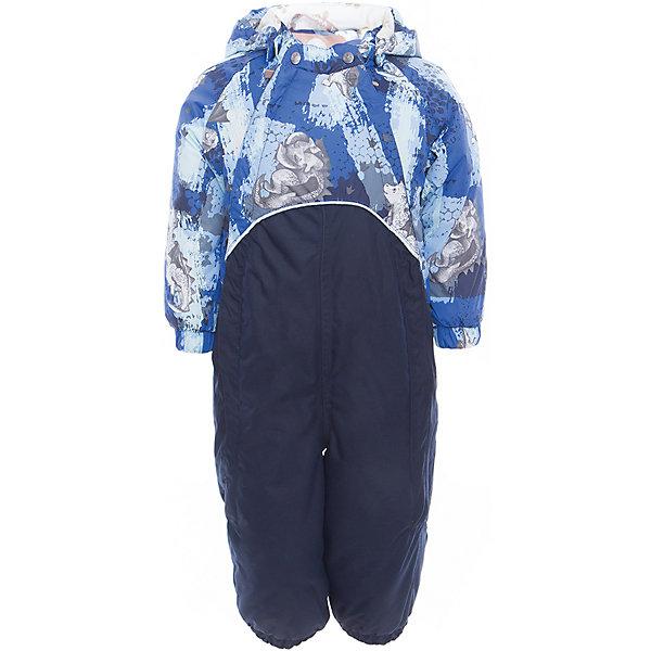 Комбинезон GOLDEN для мальчика HuppaВерхняя одежда<br>Характеристики товара:<br><br>• цвет: синий принт<br>• ткань: 100% полиэстер<br>• подкладка: фланель - 100% хлопок<br>• утеплитель: 100% полиэстер 100 г<br>• температурный режим: от -5°С до +10°С<br>• водонепроницаемость: верх - 5000 мм, низ - 10000 мм<br>• воздухопроницаемость: верх - 5000 мм, низ - 10000 мм<br>• светоотражающие детали<br>• мягкая подкладка<br>• шов сидения и боковые швы проклеены<br>• съёмный капюшон с резинкой<br>• манжеты рукавов с резинкой<br>• манжеты с отворотом у размеров 62-80<br>• манжеты брюк с резинкой<br>• съёмные эластичные штрипки<br>• без внутренних швов<br>• коллекция: весна-лето 2017<br>• страна бренда: Эстония<br><br>Этот удобный комбинезон обеспечит детям тепло и комфорт. Он сделан из материала, отталкивающего воду, и дополнен подкладкой с утеплителем, поэтому изделие идеально подходит для межсезонья. Материал изделия - с мембранной технологией: защищая от влаги и ветра, он легко выводит лишнюю влагу наружу. Комбинезон очень симпатично смотрится. <br><br>Одежда и обувь от популярного эстонского бренда Huppa - отличный вариант одеть ребенка можно и комфортно. Вещи, выпускаемые компанией, качественные, продуманные и очень удобные. Для производства изделий используются только безопасные для детей материалы. Продукция от Huppa порадует и детей, и их родителей!<br><br>Комбинезон GOLDEN от бренда Huppa (Хуппа) можно купить в нашем интернет-магазине.<br>Ширина мм: 356; Глубина мм: 10; Высота мм: 245; Вес г: 519; Цвет: синий; Возраст от месяцев: 6; Возраст до месяцев: 9; Пол: Мужской; Возраст: Детский; Размер: 74,98,92,86,80; SKU: 5346518;