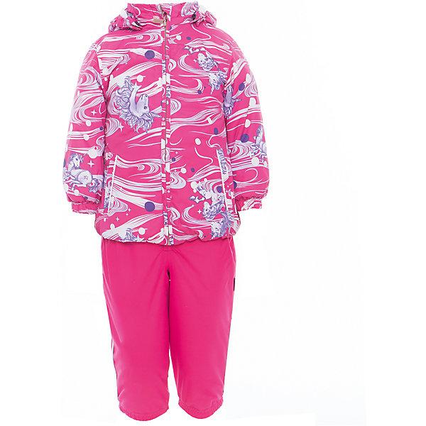 Комплект: куртка и полукомбинезон для девочки CLARA HuppaВерхняя одежда<br>Характеристики товара:<br><br>• цвет: фуксия принт/фуксия<br>• комплектация: куртка и полукомбинезон <br>• ткань: 100% полиэстер<br>• подкладка: Coral-fleece смесь хлопка и полиэстера, в рукавах - тафта 100% полиэстер<br>• утеплитель: 100% полиэстер; куртка 100 г, полукомбинезон 40 г<br>• температурный режим: от -5°С до +10°С<br>• водонепроницаемость: верх - 5000 мм, низ - 10000 мм<br>• воздухопроницаемость: верх - 5000 мм, низ - 10000 мм<br>• светоотражающие детали<br>• шов сидения проклеен<br>• съёмный капюшон с резинкой<br>• эластичные манжеты на рукавах<br>• манжеты брюк с резинкой<br>• съёмные эластичные штрипки<br>• без внутренних швов<br>• резиновые подтяжки<br>• коллекция: весна-лето 2017<br>• страна бренда: Эстония<br><br>Такой модный демисезонный комплект  обеспечит детям тепло и комфорт. Он сделан из материала, отталкивающего воду, и дополнен подкладкой с утеплителем, поэтому изделие идеально подходит для межсезонья. Материал изделий - с мембранной технологией: защищая от влаги и ветра, он легко выводит лишнюю влагу наружу. Комплект очень симпатично смотрится. <br><br>Одежда и обувь от популярного эстонского бренда Huppa - отличный вариант одеть ребенка можно и комфортно. Вещи, выпускаемые компанией, качественные, продуманные и очень удобные. Для производства изделий используются только безопасные для детей материалы. Продукция от Huppa порадует и детей, и их родителей!<br><br>Комплект: куртка и полукомбинезон CLARA от бренда Huppa (Хуппа) можно купить в нашем интернет-магазине.<br><br>Ширина мм: 356<br>Глубина мм: 10<br>Высота мм: 245<br>Вес г: 519<br>Цвет: лиловый<br>Возраст от месяцев: 12<br>Возраст до месяцев: 15<br>Пол: Женский<br>Возраст: Детский<br>Размер: 80,110,104,98,92,86<br>SKU: 5346580