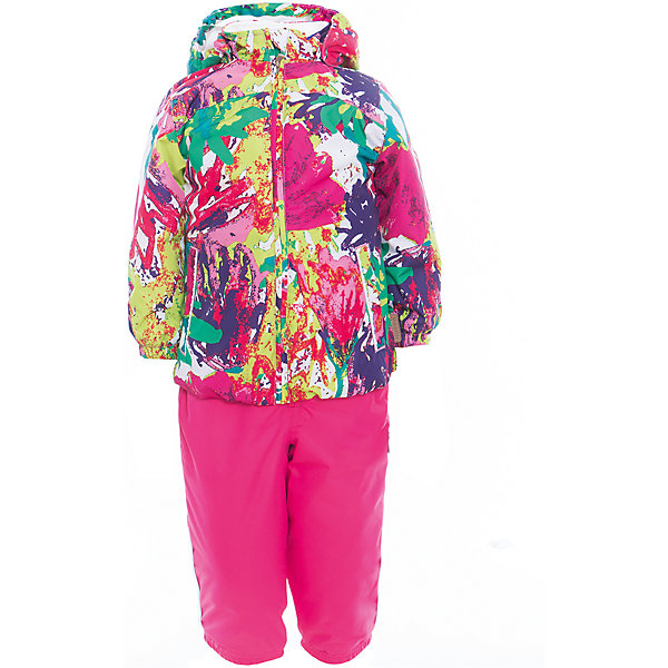 Комплект: куртка и полукомбинезон для девочки CLARA HuppaВерхняя одежда<br>Характеристики товара:<br><br>• цвет: мультиколор/фуксия<br>• комплектация: куртка и полукомбинезон <br>• ткань: 100% полиэстер<br>• подкладка: Coral-fleece смесь хлопка и полиэстера, в рукавах - тафта 100% полиэстер<br>• утеплитель: 100% полиэстер; куртка 100 г, полукомбинезон 40 г<br>• температурный режим: от -5°С до +10°С<br>• водонепроницаемость: верх - 5000 мм, низ - 10000 мм<br>• воздухопроницаемость: верх - 5000 мм, низ - 10000 мм<br>• светоотражающие детали<br>• шов сидения проклеен<br>• съёмный капюшон с резинкой<br>• эластичные манжеты на рукавах<br>• манжеты брюк с резинкой<br>• съёмные эластичные штрипки<br>• без внутренних швов<br>• резиновые подтяжки<br>• коллекция: весна-лето 2017<br>• страна бренда: Эстония<br><br>Такой модный демисезонный комплект  обеспечит детям тепло и комфорт. Он сделан из материала, отталкивающего воду, и дополнен подкладкой с утеплителем, поэтому изделие идеально подходит для межсезонья. Материал изделий - с мембранной технологией: защищая от влаги и ветра, он легко выводит лишнюю влагу наружу. Комплект очень симпатично смотрится. <br><br>Одежда и обувь от популярного эстонского бренда Huppa - отличный вариант одеть ребенка можно и комфортно. Вещи, выпускаемые компанией, качественные, продуманные и очень удобные. Для производства изделий используются только безопасные для детей материалы. Продукция от Huppa порадует и детей, и их родителей!<br><br>Комплект: куртка и полукомбинезон CLARA от бренда Huppa (Хуппа) можно купить в нашем интернет-магазине.<br>Ширина мм: 356; Глубина мм: 10; Высота мм: 245; Вес г: 519; Цвет: розовый; Возраст от месяцев: 12; Возраст до месяцев: 15; Пол: Женский; Возраст: Детский; Размер: 80,110,104,98,92,86; SKU: 5346587;