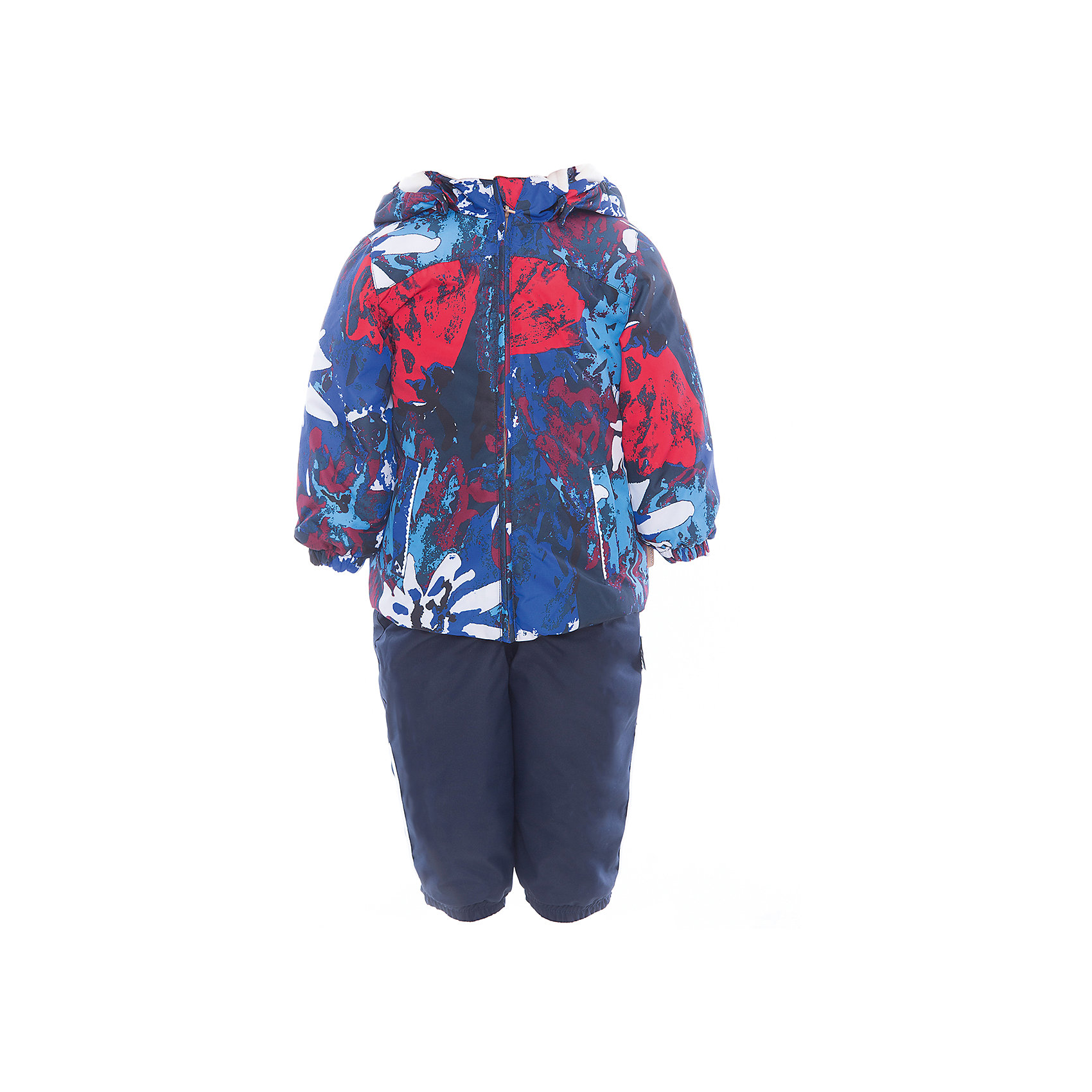 Комплект: куртка и полукомбинезон для девочки CLARA HuppaВерхняя одежда<br>Характеристики товара:<br><br>• цвет: синий принт/тёмно-синий<br>• комплектация: куртка и полукомбинезон <br>• ткань: 100% полиэстер<br>• подкладка: Coral-fleece смесь хлопка и полиэстера, в рукавах - тафта 100% полиэстер<br>• утеплитель: 100% полиэстер; куртка 100 г, полукомбинезон 40 г<br>• температурный режим: от -5°С до +10°С<br>• водонепроницаемость: верх - 5000 мм, низ - 10000 мм<br>• воздухопроницаемость: верх - 5000 мм, низ - 10000 мм<br>• светоотражающие детали<br>• шов сидения проклеен<br>• съёмный капюшон с резинкой<br>• эластичные манжеты на рукавах<br>• манжеты брюк с резинкой<br>• съёмные эластичные штрипки<br>• без внутренних швов<br>• резиновые подтяжки<br>• коллекция: весна-лето 2017<br>• страна бренда: Эстония<br><br>Такой модный демисезонный комплект  обеспечит детям тепло и комфорт. Он сделан из материала, отталкивающего воду, и дополнен подкладкой с утеплителем, поэтому изделие идеально подходит для межсезонья. Материал изделий - с мембранной технологией: защищая от влаги и ветра, он легко выводит лишнюю влагу наружу. Комплект очень симпатично смотрится. <br><br>Одежда и обувь от популярного эстонского бренда Huppa - отличный вариант одеть ребенка можно и комфортно. Вещи, выпускаемые компанией, качественные, продуманные и очень удобные. Для производства изделий используются только безопасные для детей материалы. Продукция от Huppa порадует и детей, и их родителей!<br><br>Комплект: куртка и полукомбинезон CLARA от бренда Huppa (Хуппа) можно купить в нашем интернет-магазине.<br><br>Ширина мм: 356<br>Глубина мм: 10<br>Высота мм: 245<br>Вес г: 519<br>Цвет: синий<br>Возраст от месяцев: 36<br>Возраст до месяцев: 48<br>Пол: Женский<br>Возраст: Детский<br>Размер: 104,110,86,92,98,80<br>SKU: 5346594