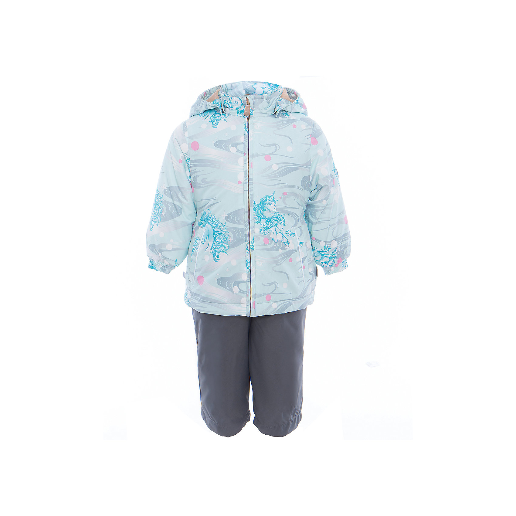 Комплект: куртка и полукомбинезон для девочки YONNE HuppaКомплекты<br>Характеристики товара:<br><br>• цвет: аква принт/серый<br>• комплектация: куртка и полукомбинезон <br>• ткань: 100% полиэстер<br>• подкладка: тафта - 100% полиэстер<br>• утеплитель: куртка и полукомбинезон - 100% полиэстер 100 г.<br>• температурный режим: от -5°С до +10°С<br>• водонепроницаемость: верх - 5000 мм, низ - 10000 мм<br>• воздухопроницаемость: верх - 5000 мм, низ - 10000 мм<br>• светоотражающие детали<br>• шов сидения проклеен<br>• съёмный капюшон с резинкой<br>• защита подбородка от молнии<br>• эластичные манжеты на рукавах<br>• регулируемый низ брючин<br>• эластичный шнур с фиксатором внизу брючин<br>• без внутренних швов<br>• резиновые подтяжки<br>• коллекция: весна-лето 2017<br>• страна бренда: Эстония<br><br>Такой модный демисезонный комплект  обеспечит детям тепло и комфорт. Он сделан из материала, отталкивающего воду, и дополнен подкладкой с утеплителем, поэтому изделие идеально подходит для межсезонья. Материал изделий - с мембранной технологией: защищая от влаги и ветра, он легко выводит лишнюю влагу наружу. Комплект очень симпатично смотрится. <br><br>Одежда и обувь от популярного эстонского бренда Huppa - отличный вариант одеть ребенка можно и комфортно. Вещи, выпускаемые компанией, качественные, продуманные и очень удобные. Для производства изделий используются только безопасные для детей материалы. Продукция от Huppa порадует и детей, и их родителей!<br><br>Комплект: куртка и полукомбинезон YONNE от бренда Huppa (Хуппа) можно купить в нашем интернет-магазине.<br><br>Ширина мм: 356<br>Глубина мм: 10<br>Высота мм: 245<br>Вес г: 519<br>Цвет: зеленый<br>Возраст от месяцев: 72<br>Возраст до месяцев: 84<br>Пол: Женский<br>Возраст: Детский<br>Размер: 122,80,86,92,98,104,110,116<br>SKU: 5346608