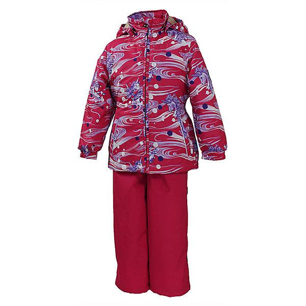 Комплект: куртка и полукомбинезон для девочки YONNE HuppaВерхняя одежда<br>Характеристики товара:<br><br>• цвет: фуксия принт/фуксия<br>• комплектация: куртка и полукомбинезон <br>• ткань: 100% полиэстер<br>• подкладка: тафта - 100% полиэстер<br>• утеплитель: куртка и полукомбинезон - 100% полиэстер 100 г.<br>• температурный режим: от -5°С до +10°С<br>• водонепроницаемость: верх - 5000 мм, низ - 10000 мм<br>• воздухопроницаемость: верх - 5000 мм, низ - 10000 мм<br>• светоотражающие детали<br>• шов сидения проклеен<br>• съёмный капюшон с резинкой<br>• защита подбородка от молнии<br>• эластичные манжеты на рукавах<br>• регулируемый низ брючин<br>• эластичный шнур с фиксатором внизу брючин<br>• без внутренних швов<br>• резиновые подтяжки<br>• коллекция: весна-лето 2017<br>• страна бренда: Эстония<br><br>Такой модный демисезонный комплект  обеспечит детям тепло и комфорт. Он сделан из материала, отталкивающего воду, и дополнен подкладкой с утеплителем, поэтому изделие идеально подходит для межсезонья. Материал изделий - с мембранной технологией: защищая от влаги и ветра, он легко выводит лишнюю влагу наружу. Комплект очень симпатично смотрится. <br><br>Одежда и обувь от популярного эстонского бренда Huppa - отличный вариант одеть ребенка можно и комфортно. Вещи, выпускаемые компанией, качественные, продуманные и очень удобные. Для производства изделий используются только безопасные для детей материалы. Продукция от Huppa порадует и детей, и их родителей!<br><br>Комплект: куртка и полукомбинезон YONNE от бренда Huppa (Хуппа) можно купить в нашем интернет-магазине.<br>Ширина мм: 356; Глубина мм: 10; Высота мм: 245; Вес г: 519; Цвет: лиловый; Возраст от месяцев: 12; Возраст до месяцев: 18; Пол: Женский; Возраст: Детский; Размер: 86,122,116,110,104,98,92; SKU: 5346617;