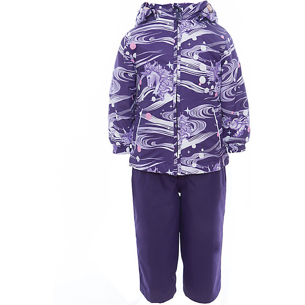 Комплект: куртка и полукомбинезон для девочки YONNE HuppaВерхняя одежда<br>Характеристики товара:<br><br>• цвет: тёмно-фиолетовый принт/тёмно-фиолетовый<br>• комплектация: куртка и полукомбинезон <br>• ткань: 100% полиэстер<br>• подкладка: тафта - 100% полиэстер<br>• утеплитель: куртка и полукомбинезон - 100% полиэстер 100 г.<br>• температурный режим: от -5°С до +10°С<br>• водонепроницаемость: верх - 5000 мм, низ - 10000 мм<br>• воздухопроницаемость: верх - 5000 мм, низ - 10000 мм<br>• светоотражающие детали<br>• шов сидения проклеен<br>• съёмный капюшон с резинкой<br>• защита подбородка от молнии<br>• эластичные манжеты на рукавах<br>• регулируемый низ брючин<br>• эластичный шнур с фиксатором внизу брючин<br>• без внутренних швов<br>• резиновые подтяжки<br>• коллекция: весна-лето 2017<br>• страна бренда: Эстония<br><br>Такой модный демисезонный комплект  обеспечит детям тепло и комфорт. Он сделан из материала, отталкивающего воду, и дополнен подкладкой с утеплителем, поэтому изделие идеально подходит для межсезонья. Материал изделий - с мембранной технологией: защищая от влаги и ветра, он легко выводит лишнюю влагу наружу. Комплект очень симпатично смотрится. <br><br>Одежда и обувь от популярного эстонского бренда Huppa - отличный вариант одеть ребенка можно и комфортно. Вещи, выпускаемые компанией, качественные, продуманные и очень удобные. Для производства изделий используются только безопасные для детей материалы. Продукция от Huppa порадует и детей, и их родителей!<br><br>Комплект: куртка и полукомбинезон YONNE от бренда Huppa (Хуппа) можно купить в нашем интернет-магазине.<br>Ширина мм: 356; Глубина мм: 10; Высота мм: 245; Вес г: 519; Цвет: розовый; Возраст от месяцев: 12; Возраст до месяцев: 15; Пол: Женский; Возраст: Детский; Размер: 80; SKU: 5346625;