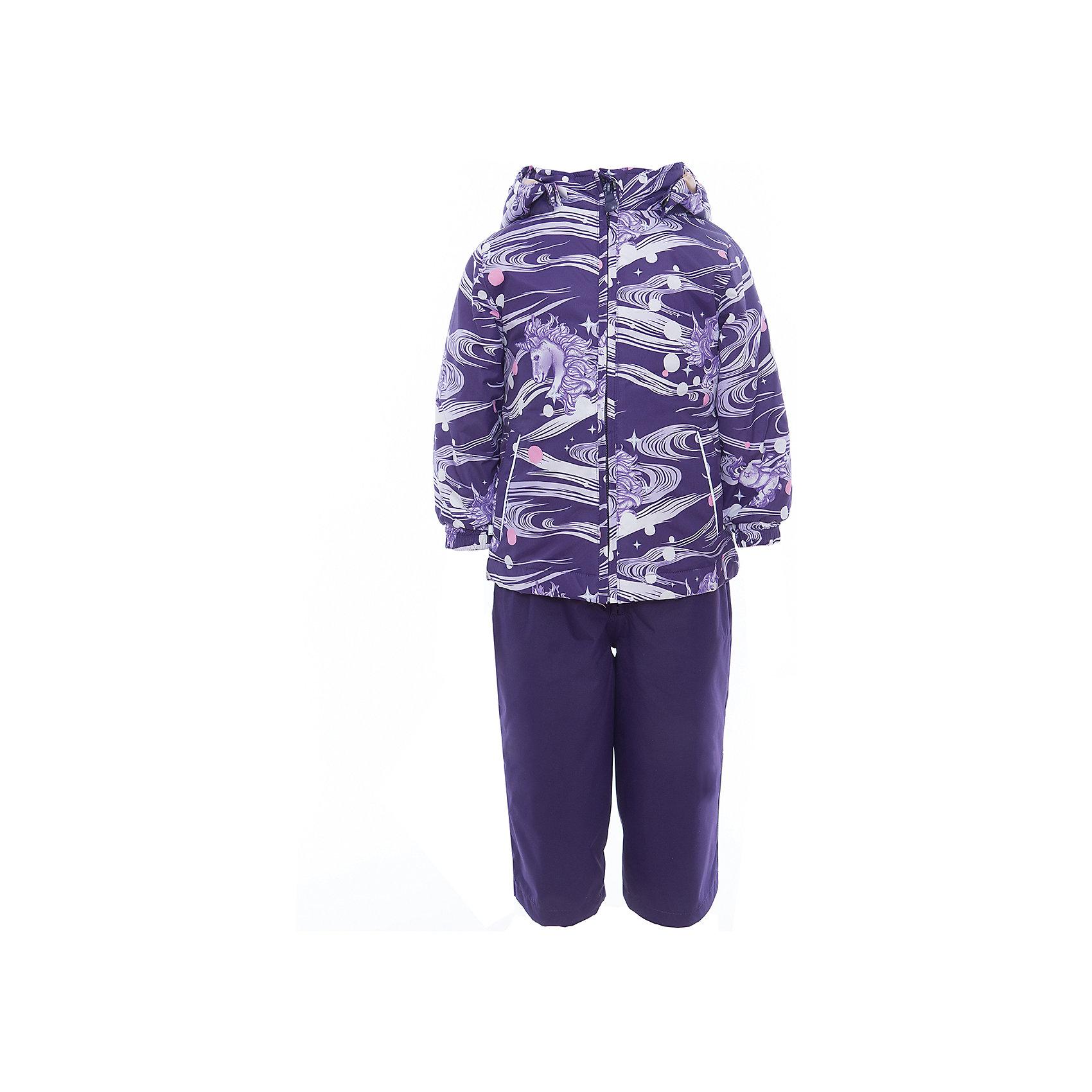 Комплект: куртка и полукомбинезон для девочки YONNE HuppaВерхняя одежда<br>Характеристики товара:<br><br>• цвет: тёмно-фиолетовый принт/тёмно-фиолетовый<br>• комплектация: куртка и полукомбинезон <br>• ткань: 100% полиэстер<br>• подкладка: тафта - 100% полиэстер<br>• утеплитель: куртка и полукомбинезон - 100% полиэстер 100 г.<br>• температурный режим: от -5°С до +10°С<br>• водонепроницаемость: верх - 5000 мм, низ - 10000 мм<br>• воздухопроницаемость: верх - 5000 мм, низ - 10000 мм<br>• светоотражающие детали<br>• шов сидения проклеен<br>• съёмный капюшон с резинкой<br>• защита подбородка от молнии<br>• эластичные манжеты на рукавах<br>• регулируемый низ брючин<br>• эластичный шнур с фиксатором внизу брючин<br>• без внутренних швов<br>• резиновые подтяжки<br>• коллекция: весна-лето 2017<br>• страна бренда: Эстония<br><br>Такой модный демисезонный комплект  обеспечит детям тепло и комфорт. Он сделан из материала, отталкивающего воду, и дополнен подкладкой с утеплителем, поэтому изделие идеально подходит для межсезонья. Материал изделий - с мембранной технологией: защищая от влаги и ветра, он легко выводит лишнюю влагу наружу. Комплект очень симпатично смотрится. <br><br>Одежда и обувь от популярного эстонского бренда Huppa - отличный вариант одеть ребенка можно и комфортно. Вещи, выпускаемые компанией, качественные, продуманные и очень удобные. Для производства изделий используются только безопасные для детей материалы. Продукция от Huppa порадует и детей, и их родителей!<br><br>Комплект: куртка и полукомбинезон YONNE от бренда Huppa (Хуппа) можно купить в нашем интернет-магазине.<br><br>Ширина мм: 356<br>Глубина мм: 10<br>Высота мм: 245<br>Вес г: 519<br>Цвет: розовый<br>Возраст от месяцев: 12<br>Возраст до месяцев: 15<br>Пол: Женский<br>Возраст: Детский<br>Размер: 80<br>SKU: 5346625