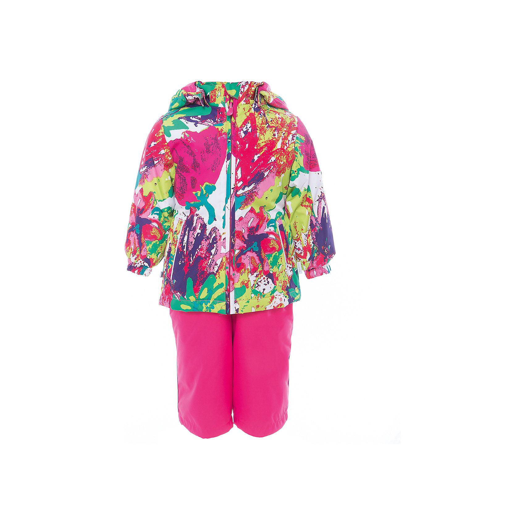 Комплект: куртка и полукомбинезон для девочки YONNE HuppaВерхняя одежда<br>Характеристики товара:<br><br>• цвет: мультиколор/фуксия<br>• комплектация: куртка и полукомбинезон <br>• ткань: 100% полиэстер<br>• подкладка: тафта - 100% полиэстер<br>• утеплитель: куртка и полукомбинезон - 100% полиэстер 100 г.<br>• температурный режим: от -5°С до +10°С<br>• водонепроницаемость: верх - 5000 мм, низ - 10000 мм<br>• воздухопроницаемость: верх - 5000 мм, низ - 10000 мм<br>• светоотражающие детали<br>• шов сидения проклеен<br>• съёмный капюшон с резинкой<br>• защита подбородка от молнии<br>• эластичные манжеты на рукавах<br>• регулируемый низ брючин<br>• эластичный шнур с фиксатором внизу брючин<br>• без внутренних швов<br>• резиновые подтяжки<br>• коллекция: весна-лето 2017<br>• страна бренда: Эстония<br><br>Такой модный демисезонный комплект  обеспечит детям тепло и комфорт. Он сделан из материала, отталкивающего воду, и дополнен подкладкой с утеплителем, поэтому изделие идеально подходит для межсезонья. Материал изделий - с мембранной технологией: защищая от влаги и ветра, он легко выводит лишнюю влагу наружу. Комплект очень симпатично смотрится. <br><br>Одежда и обувь от популярного эстонского бренда Huppa - отличный вариант одеть ребенка можно и комфортно. Вещи, выпускаемые компанией, качественные, продуманные и очень удобные. Для производства изделий используются только безопасные для детей материалы. Продукция от Huppa порадует и детей, и их родителей!<br><br>Комплект: куртка и полукомбинезон YONNE от бренда Huppa (Хуппа) можно купить в нашем интернет-магазине.<br><br>Ширина мм: 356<br>Глубина мм: 10<br>Высота мм: 245<br>Вес г: 519<br>Цвет: белый<br>Возраст от месяцев: 72<br>Возраст до месяцев: 84<br>Пол: Женский<br>Возраст: Детский<br>Размер: 122,80,86,92,98,104,110,116<br>SKU: 5346627