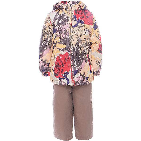 Комплект: куртка и полукомбинезон для девочки YONNE HuppaВерхняя одежда<br>Характеристики товара:<br><br>• цвет: золотой принт/бежевый<br>• комплектация: куртка и полукомбинезон <br>• ткань: 100% полиэстер<br>• подкладка: тафта - 100% полиэстер<br>• утеплитель: куртка и полукомбинезон - 100% полиэстер 100 г.<br>• температурный режим: от -5°С до +10°С<br>• водонепроницаемость: верх - 5000 мм, низ - 10000 мм<br>• воздухопроницаемость: верх - 5000 мм, низ - 10000 мм<br>• светоотражающие детали<br>• шов сидения проклеен<br>• съёмный капюшон с резинкой<br>• защита подбородка от молнии<br>• эластичные манжеты на рукавах<br>• регулируемый низ брючин<br>• эластичный шнур с фиксатором внизу брючин<br>• без внутренних швов<br>• резиновые подтяжки<br>• коллекция: весна-лето 2017<br>• страна бренда: Эстония<br><br>Такой модный демисезонный комплект  обеспечит детям тепло и комфорт. Он сделан из материала, отталкивающего воду, и дополнен подкладкой с утеплителем, поэтому изделие идеально подходит для межсезонья. Материал изделий - с мембранной технологией: защищая от влаги и ветра, он легко выводит лишнюю влагу наружу. Комплект очень симпатично смотрится. <br><br>Одежда и обувь от популярного эстонского бренда Huppa - отличный вариант одеть ребенка можно и комфортно. Вещи, выпускаемые компанией, качественные, продуманные и очень удобные. Для производства изделий используются только безопасные для детей материалы. Продукция от Huppa порадует и детей, и их родителей!<br><br>Комплект: куртка и полукомбинезон YONNE от бренда Huppa (Хуппа) можно купить в нашем интернет-магазине.<br>Ширина мм: 356; Глубина мм: 10; Высота мм: 245; Вес г: 519; Цвет: желтый; Возраст от месяцев: 12; Возраст до месяцев: 15; Пол: Женский; Возраст: Детский; Размер: 122,116,110,80,104,98,92,86; SKU: 5346636;