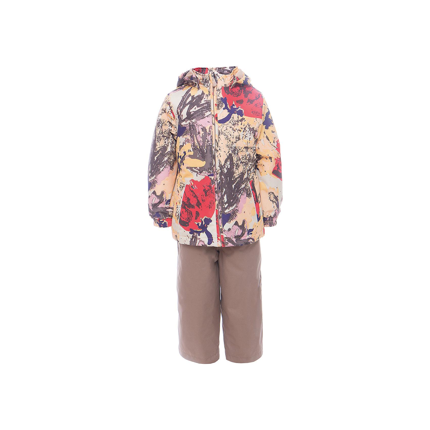 Комплект: куртка и полукомбинезон для девочки YONNE HuppaКомплекты<br>Характеристики товара:<br><br>• цвет: золотой принт/бежевый<br>• комплектация: куртка и полукомбинезон <br>• ткань: 100% полиэстер<br>• подкладка: тафта - 100% полиэстер<br>• утеплитель: куртка и полукомбинезон - 100% полиэстер 100 г.<br>• температурный режим: от -5°С до +10°С<br>• водонепроницаемость: верх - 5000 мм, низ - 10000 мм<br>• воздухопроницаемость: верх - 5000 мм, низ - 10000 мм<br>• светоотражающие детали<br>• шов сидения проклеен<br>• съёмный капюшон с резинкой<br>• защита подбородка от молнии<br>• эластичные манжеты на рукавах<br>• регулируемый низ брючин<br>• эластичный шнур с фиксатором внизу брючин<br>• без внутренних швов<br>• резиновые подтяжки<br>• коллекция: весна-лето 2017<br>• страна бренда: Эстония<br><br>Такой модный демисезонный комплект  обеспечит детям тепло и комфорт. Он сделан из материала, отталкивающего воду, и дополнен подкладкой с утеплителем, поэтому изделие идеально подходит для межсезонья. Материал изделий - с мембранной технологией: защищая от влаги и ветра, он легко выводит лишнюю влагу наружу. Комплект очень симпатично смотрится. <br><br>Одежда и обувь от популярного эстонского бренда Huppa - отличный вариант одеть ребенка можно и комфортно. Вещи, выпускаемые компанией, качественные, продуманные и очень удобные. Для производства изделий используются только безопасные для детей материалы. Продукция от Huppa порадует и детей, и их родителей!<br><br>Комплект: куртка и полукомбинезон YONNE от бренда Huppa (Хуппа) можно купить в нашем интернет-магазине.<br><br>Ширина мм: 356<br>Глубина мм: 10<br>Высота мм: 245<br>Вес г: 519<br>Цвет: желтый<br>Возраст от месяцев: 72<br>Возраст до месяцев: 84<br>Пол: Женский<br>Возраст: Детский<br>Размер: 122,80,86,92,98,104,110,116<br>SKU: 5346636
