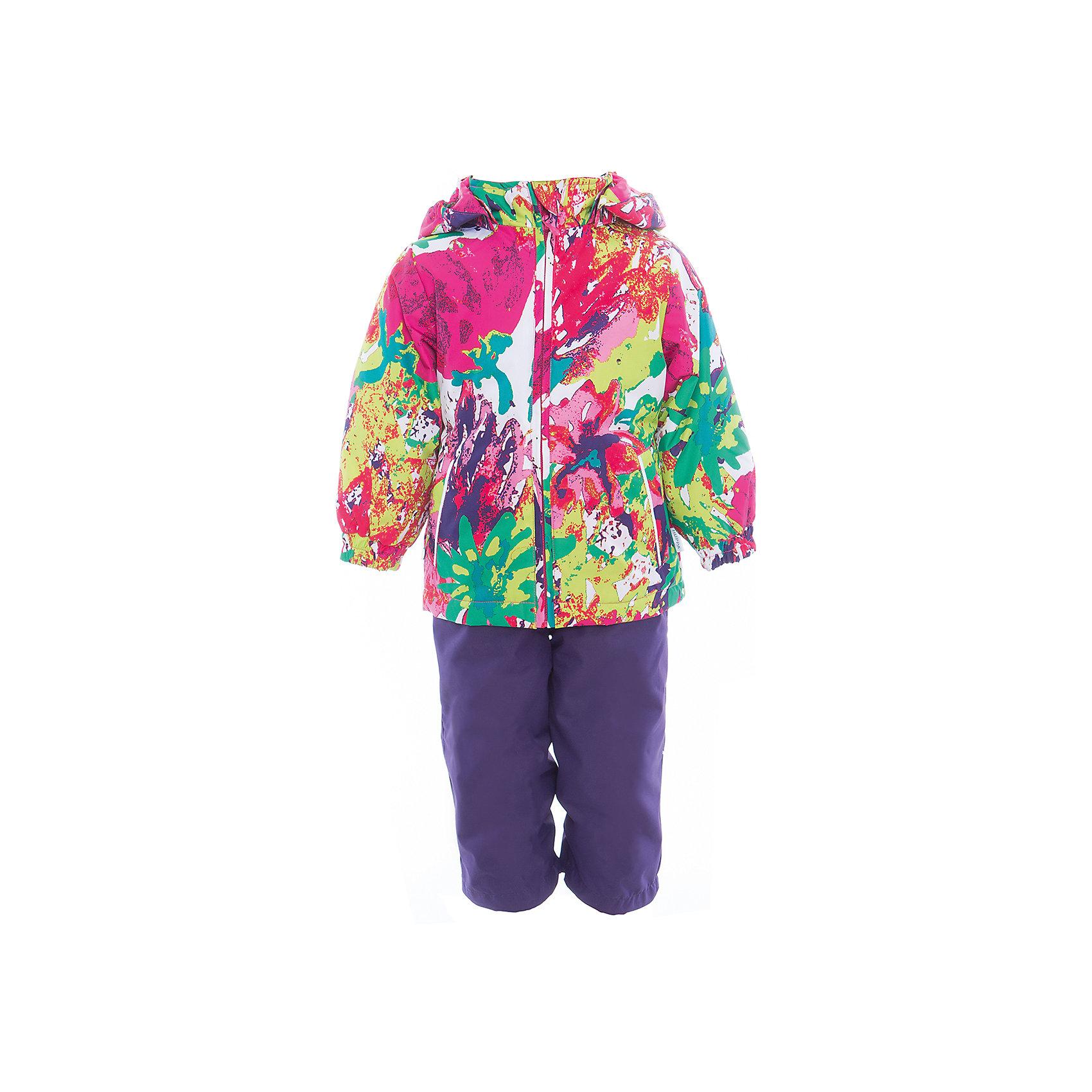 Комплект: куртка и полукомбинезон для девочки YONNE HuppaКомплекты<br>Характеристики товара:<br><br>• цвет: мультиколор/тёмно-фиолетовый<br>• комплектация: куртка и полукомбинезон <br>• ткань: 100% полиэстер<br>• подкладка: тафта - 100% полиэстер<br>• утеплитель: куртка и полукомбинезон - 100% полиэстер 100 г.<br>• температурный режим: от -5°С до +10°С<br>• водонепроницаемость: верх - 5000 мм, низ - 10000 мм<br>• воздухопроницаемость: верх - 5000 мм, низ - 10000 мм<br>• светоотражающие детали<br>• шов сидения проклеен<br>• съёмный капюшон с резинкой<br>• защита подбородка от молнии<br>• эластичные манжеты на рукавах<br>• регулируемый низ брючин<br>• эластичный шнур с фиксатором внизу брючин<br>• без внутренних швов<br>• резиновые подтяжки<br>• коллекция: весна-лето 2017<br>• страна бренда: Эстония<br><br>Такой модный демисезонный комплект  обеспечит детям тепло и комфорт. Он сделан из материала, отталкивающего воду, и дополнен подкладкой с утеплителем, поэтому изделие идеально подходит для межсезонья. Материал изделий - с мембранной технологией: защищая от влаги и ветра, он легко выводит лишнюю влагу наружу. Комплект очень симпатично смотрится. <br><br>Одежда и обувь от популярного эстонского бренда Huppa - отличный вариант одеть ребенка можно и комфортно. Вещи, выпускаемые компанией, качественные, продуманные и очень удобные. Для производства изделий используются только безопасные для детей материалы. Продукция от Huppa порадует и детей, и их родителей!<br><br>Комплект: куртка и полукомбинезон YONNE от бренда Huppa (Хуппа) можно купить в нашем интернет-магазине.<br><br>Ширина мм: 356<br>Глубина мм: 10<br>Высота мм: 245<br>Вес г: 519<br>Цвет: белый<br>Возраст от месяцев: 72<br>Возраст до месяцев: 84<br>Пол: Женский<br>Возраст: Детский<br>Размер: 122,80,86,92,98,104,110,116<br>SKU: 5346645