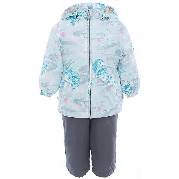 Комплект: куртка и полукомбинезон для девочки YONNE HuppaВерхняя одежда<br>Характеристики товара:<br><br>• цвет: аква принт/серый<br>• комплектация: куртка и полукомбинезон <br>• ткань: 100% полиэстер<br>• подкладка: тафта - 100% полиэстер<br>• утеплитель: куртка и полукомбинезон - 100% полиэстер 100 г.<br>• температурный режим: от -5°С до +10°С<br>• водонепроницаемость: верх - 5000 мм, низ - 10000 мм<br>• воздухопроницаемость: верх - 5000 мм, низ - 10000 мм<br>• светоотражающие детали<br>• шов сидения проклеен<br>• съёмный капюшон с резинкой<br>• защита подбородка от молнии<br>• эластичные манжеты на рукавах<br>• регулируемый низ брючин<br>• эластичный шнур с фиксатором внизу брючин<br>• без внутренних швов<br>• резиновые подтяжки<br>• коллекция: весна-лето 2017<br>• страна бренда: Эстония<br><br>Такой модный демисезонный комплект  обеспечит детям тепло и комфорт. Он сделан из материала, отталкивающего воду, и дополнен подкладкой с утеплителем, поэтому изделие идеально подходит для межсезонья. Материал изделий - с мембранной технологией: защищая от влаги и ветра, он легко выводит лишнюю влагу наружу. Комплект очень симпатично смотрится. <br><br>Одежда и обувь от популярного эстонского бренда Huppa - отличный вариант одеть ребенка можно и комфортно. Вещи, выпускаемые компанией, качественные, продуманные и очень удобные. Для производства изделий используются только безопасные для детей материалы. Продукция от Huppa порадует и детей, и их родителей!<br><br>Комплект: куртка и полукомбинезон YONNE от бренда Huppa (Хуппа) можно купить в нашем интернет-магазине.<br>Ширина мм: 356; Глубина мм: 10; Высота мм: 245; Вес г: 519; Цвет: зеленый; Возраст от месяцев: 24; Возраст до месяцев: 36; Пол: Женский; Возраст: Детский; Размер: 98,80,122,116,110,104,92,86; SKU: 5346654;