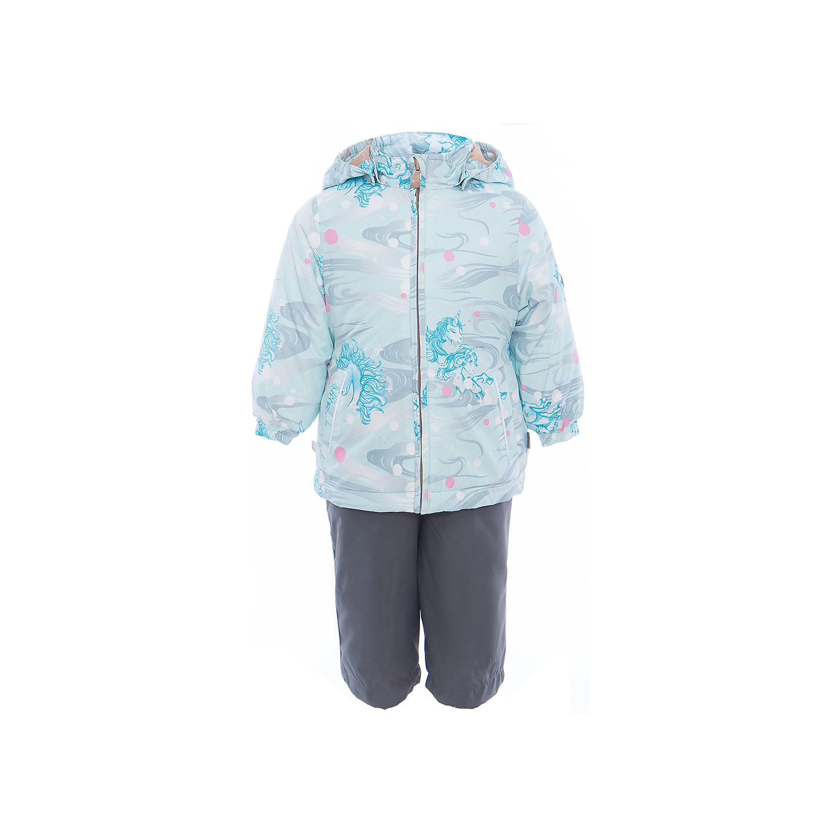 Комплект: куртка и полукомбинезон для девочки YONNE HuppaВерхняя одежда<br>Характеристики товара:<br><br>• цвет: аква принт/серый<br>• комплектация: куртка и полукомбинезон <br>• ткань: 100% полиэстер<br>• подкладка: тафта - 100% полиэстер<br>• утеплитель: куртка и полукомбинезон - 100% полиэстер 100 г.<br>• температурный режим: от -5°С до +10°С<br>• водонепроницаемость: верх - 5000 мм, низ - 10000 мм<br>• воздухопроницаемость: верх - 5000 мм, низ - 10000 мм<br>• светоотражающие детали<br>• шов сидения проклеен<br>• съёмный капюшон с резинкой<br>• защита подбородка от молнии<br>• эластичные манжеты на рукавах<br>• регулируемый низ брючин<br>• эластичный шнур с фиксатором внизу брючин<br>• без внутренних швов<br>• резиновые подтяжки<br>• коллекция: весна-лето 2017<br>• страна бренда: Эстония<br><br>Такой модный демисезонный комплект  обеспечит детям тепло и комфорт. Он сделан из материала, отталкивающего воду, и дополнен подкладкой с утеплителем, поэтому изделие идеально подходит для межсезонья. Материал изделий - с мембранной технологией: защищая от влаги и ветра, он легко выводит лишнюю влагу наружу. Комплект очень симпатично смотрится. <br><br>Одежда и обувь от популярного эстонского бренда Huppa - отличный вариант одеть ребенка можно и комфортно. Вещи, выпускаемые компанией, качественные, продуманные и очень удобные. Для производства изделий используются только безопасные для детей материалы. Продукция от Huppa порадует и детей, и их родителей!<br><br>Комплект: куртка и полукомбинезон YONNE от бренда Huppa (Хуппа) можно купить в нашем интернет-магазине.<br><br>Ширина мм: 356<br>Глубина мм: 10<br>Высота мм: 245<br>Вес г: 519<br>Цвет: зеленый<br>Возраст от месяцев: 12<br>Возраст до месяцев: 15<br>Пол: Женский<br>Возраст: Детский<br>Размер: 80,122,116,110,104,98,92,86<br>SKU: 5346654