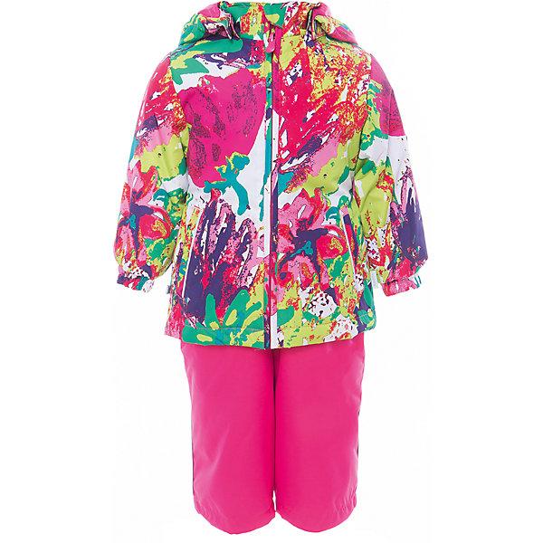 Комплект: куртка и полукомбинезон для девочки YONNE HuppaВерхняя одежда<br>Характеристики товара:<br><br>• цвет: мультиколор принт/фуксия<br>• комплектация: куртка и полукомбинезон <br>• ткань: 100% полиэстер<br>• подкладка: тафта - 100% полиэстер<br>• утеплитель: куртка и полукомбинезон - 100% полиэстер 100 г.<br>• температурный режим: от -5°С до +10°С<br>• водонепроницаемость: верх - 5000 мм, низ - 10000 мм<br>• воздухопроницаемость: верх - 5000 мм, низ - 10000 мм<br>• светоотражающие детали<br>• шов сидения проклеен<br>• съёмный капюшон с резинкой<br>• защита подбородка от молнии<br>• эластичные манжеты на рукавах<br>• регулируемый низ брючин<br>• эластичный шнур с фиксатором внизу брючин<br>• без внутренних швов<br>• резиновые подтяжки<br>• коллекция: весна-лето 2017<br>• страна бренда: Эстония<br><br>Такой модный демисезонный комплект  обеспечит детям тепло и комфорт. Он сделан из материала, отталкивающего воду, и дополнен подкладкой с утеплителем, поэтому изделие идеально подходит для межсезонья. Материал изделий - с мембранной технологией: защищая от влаги и ветра, он легко выводит лишнюю влагу наружу. Комплект очень симпатично смотрится. <br><br>Одежда и обувь от популярного эстонского бренда Huppa - отличный вариант одеть ребенка можно и комфортно. Вещи, выпускаемые компанией, качественные, продуманные и очень удобные. Для производства изделий используются только безопасные для детей материалы. Продукция от Huppa порадует и детей, и их родителей!<br><br>Комплект: куртка и полукомбинезон YONNE от бренда Huppa (Хуппа) можно купить в нашем интернет-магазине.<br>Ширина мм: 356; Глубина мм: 10; Высота мм: 245; Вес г: 519; Цвет: розовый; Возраст от месяцев: 12; Возраст до месяцев: 18; Пол: Женский; Возраст: Детский; Размер: 86,110,122,116,104,98,92,80; SKU: 5346663;