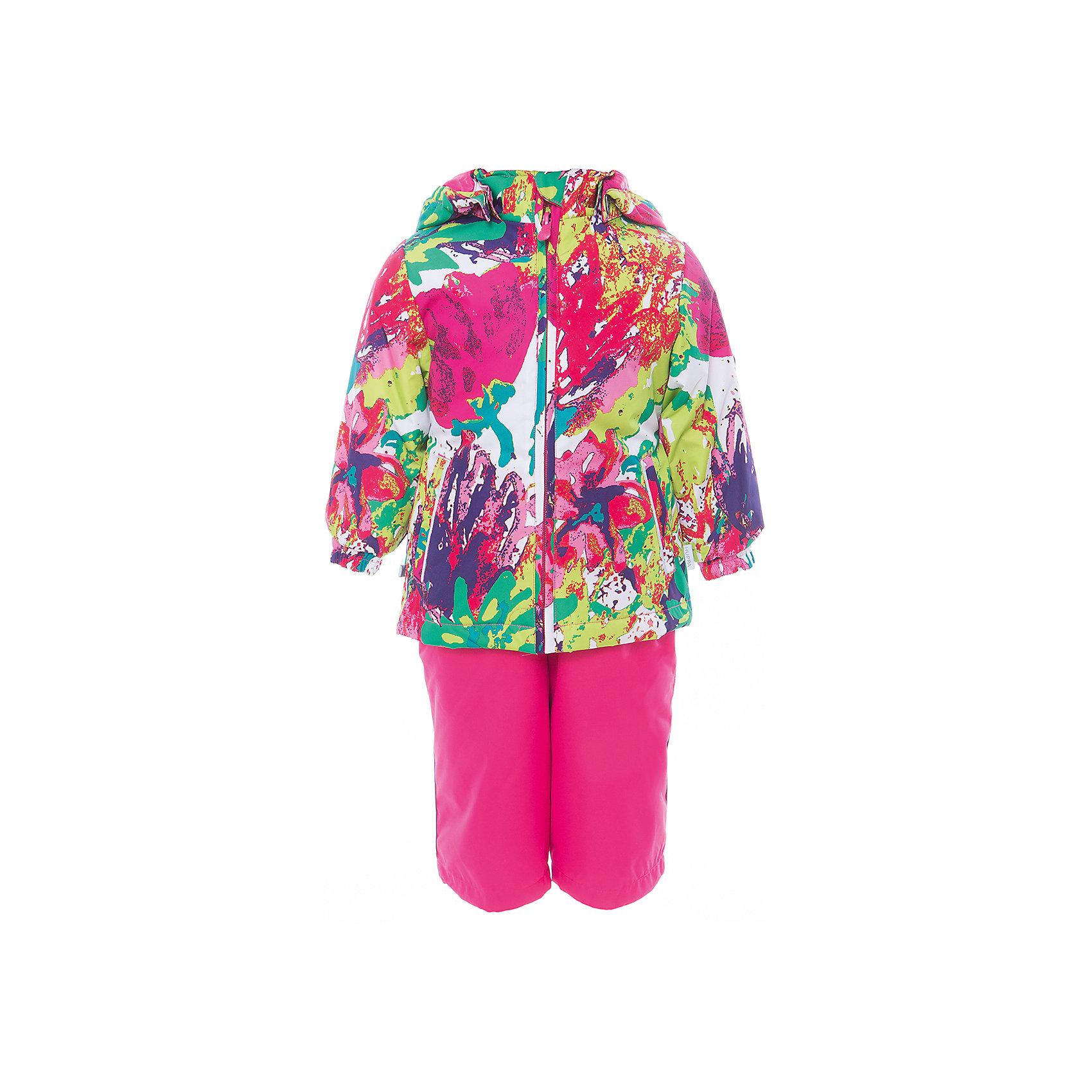 Комплект: куртка и полукомбинезон для девочки YONNE HuppaВерхняя одежда<br>Характеристики товара:<br><br>• цвет: мультиколор принт/фуксия<br>• комплектация: куртка и полукомбинезон <br>• ткань: 100% полиэстер<br>• подкладка: тафта - 100% полиэстер<br>• утеплитель: куртка и полукомбинезон - 100% полиэстер 100 г.<br>• температурный режим: от -5°С до +10°С<br>• водонепроницаемость: верх - 5000 мм, низ - 10000 мм<br>• воздухопроницаемость: верх - 5000 мм, низ - 10000 мм<br>• светоотражающие детали<br>• шов сидения проклеен<br>• съёмный капюшон с резинкой<br>• защита подбородка от молнии<br>• эластичные манжеты на рукавах<br>• регулируемый низ брючин<br>• эластичный шнур с фиксатором внизу брючин<br>• без внутренних швов<br>• резиновые подтяжки<br>• коллекция: весна-лето 2017<br>• страна бренда: Эстония<br><br>Такой модный демисезонный комплект  обеспечит детям тепло и комфорт. Он сделан из материала, отталкивающего воду, и дополнен подкладкой с утеплителем, поэтому изделие идеально подходит для межсезонья. Материал изделий - с мембранной технологией: защищая от влаги и ветра, он легко выводит лишнюю влагу наружу. Комплект очень симпатично смотрится. <br><br>Одежда и обувь от популярного эстонского бренда Huppa - отличный вариант одеть ребенка можно и комфортно. Вещи, выпускаемые компанией, качественные, продуманные и очень удобные. Для производства изделий используются только безопасные для детей материалы. Продукция от Huppa порадует и детей, и их родителей!<br><br>Комплект: куртка и полукомбинезон YONNE от бренда Huppa (Хуппа) можно купить в нашем интернет-магазине.<br><br>Ширина мм: 356<br>Глубина мм: 10<br>Высота мм: 245<br>Вес г: 519<br>Цвет: белый<br>Возраст от месяцев: 72<br>Возраст до месяцев: 84<br>Пол: Женский<br>Возраст: Детский<br>Размер: 122,110,80,86,92,98,104,116<br>SKU: 5346663