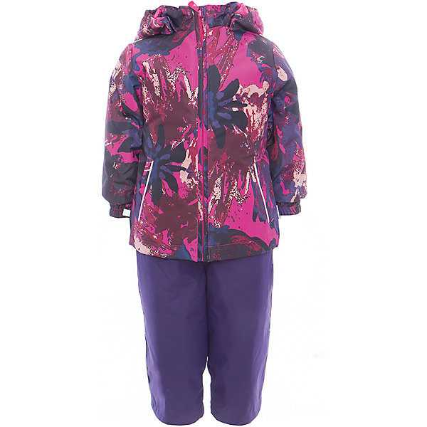 Комплект: куртка и полукомбинезон для девочки YONNE HuppaВерхняя одежда<br>Характеристики товара:<br><br>• цвет: фуксия принт/тёмно-фиолетовый<br>• комплектация: куртка и полукомбинезон <br>• ткань: 100% полиэстер<br>• подкладка: тафта - 100% полиэстер<br>• утеплитель: куртка и полукомбинезон - 100% полиэстер 100 г.<br>• температурный режим: от -5°С до +10°С<br>• водонепроницаемость: верх - 5000 мм, низ - 10000 мм<br>• воздухопроницаемость: верх - 5000 мм, низ - 10000 мм<br>• светоотражающие детали<br>• шов сидения проклеен<br>• съёмный капюшон с резинкой<br>• защита подбородка от молнии<br>• эластичные манжеты на рукавах<br>• регулируемый низ брючин<br>• эластичный шнур с фиксатором внизу брючин<br>• без внутренних швов<br>• резиновые подтяжки<br>• коллекция: весна-лето 2017<br>• страна бренда: Эстония<br><br>Такой модный демисезонный комплект  обеспечит детям тепло и комфорт. Он сделан из материала, отталкивающего воду, и дополнен подкладкой с утеплителем, поэтому изделие идеально подходит для межсезонья. Материал изделий - с мембранной технологией: защищая от влаги и ветра, он легко выводит лишнюю влагу наружу. Комплект очень симпатично смотрится. <br><br>Одежда и обувь от популярного эстонского бренда Huppa - отличный вариант одеть ребенка можно и комфортно. Вещи, выпускаемые компанией, качественные, продуманные и очень удобные. Для производства изделий используются только безопасные для детей материалы. Продукция от Huppa порадует и детей, и их родителей!<br><br>Комплект: куртка и полукомбинезон YONNE от бренда Huppa (Хуппа) можно купить в нашем интернет-магазине.<br>Ширина мм: 356; Глубина мм: 10; Высота мм: 245; Вес г: 519; Цвет: лиловый; Возраст от месяцев: 12; Возраст до месяцев: 15; Пол: Женский; Возраст: Детский; Размер: 80,122,116,110,104,98,92,86; SKU: 5346681;