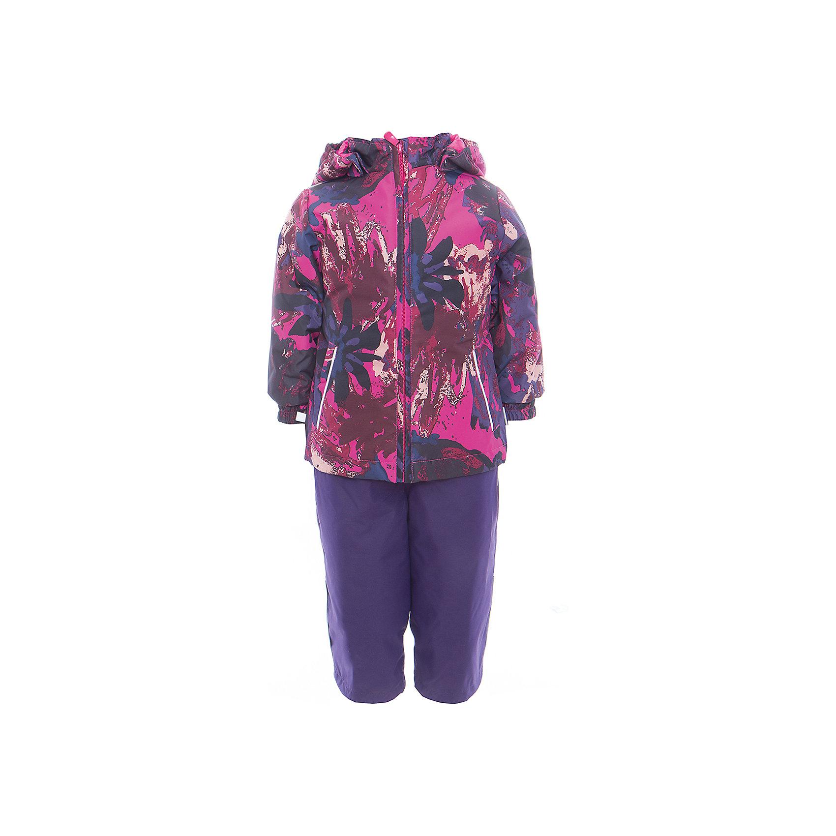 Комплект: куртка и полукомбинезон для девочки YONNE HuppaХарактеристики товара:<br><br>• цвет: фуксия принт/тёмно-фиолетовый<br>• комплектация: куртка и полукомбинезон <br>• ткань: 100% полиэстер<br>• подкладка: тафта - 100% полиэстер<br>• утеплитель: куртка и полукомбинезон - 100% полиэстер 100 г.<br>• температурный режим: от -5°С до +10°С<br>• водонепроницаемость: верх - 5000 мм, низ - 10000 мм<br>• воздухопроницаемость: верх - 5000 мм, низ - 10000 мм<br>• светоотражающие детали<br>• шов сидения проклеен<br>• съёмный капюшон с резинкой<br>• защита подбородка от молнии<br>• эластичные манжеты на рукавах<br>• регулируемый низ брючин<br>• эластичный шнур с фиксатором внизу брючин<br>• без внутренних швов<br>• резиновые подтяжки<br>• коллекция: весна-лето 2017<br>• страна бренда: Эстония<br><br>Такой модный демисезонный комплект  обеспечит детям тепло и комфорт. Он сделан из материала, отталкивающего воду, и дополнен подкладкой с утеплителем, поэтому изделие идеально подходит для межсезонья. Материал изделий - с мембранной технологией: защищая от влаги и ветра, он легко выводит лишнюю влагу наружу. Комплект очень симпатично смотрится. <br><br>Одежда и обувь от популярного эстонского бренда Huppa - отличный вариант одеть ребенка можно и комфортно. Вещи, выпускаемые компанией, качественные, продуманные и очень удобные. Для производства изделий используются только безопасные для детей материалы. Продукция от Huppa порадует и детей, и их родителей!<br><br>Комплект: куртка и полукомбинезон YONNE от бренда Huppa (Хуппа) можно купить в нашем интернет-магазине.<br><br>Ширина мм: 356<br>Глубина мм: 10<br>Высота мм: 245<br>Вес г: 519<br>Цвет: фиолетовый<br>Возраст от месяцев: 72<br>Возраст до месяцев: 84<br>Пол: Женский<br>Возраст: Детский<br>Размер: 122,80,86,92,98,104,110,116<br>SKU: 5346681