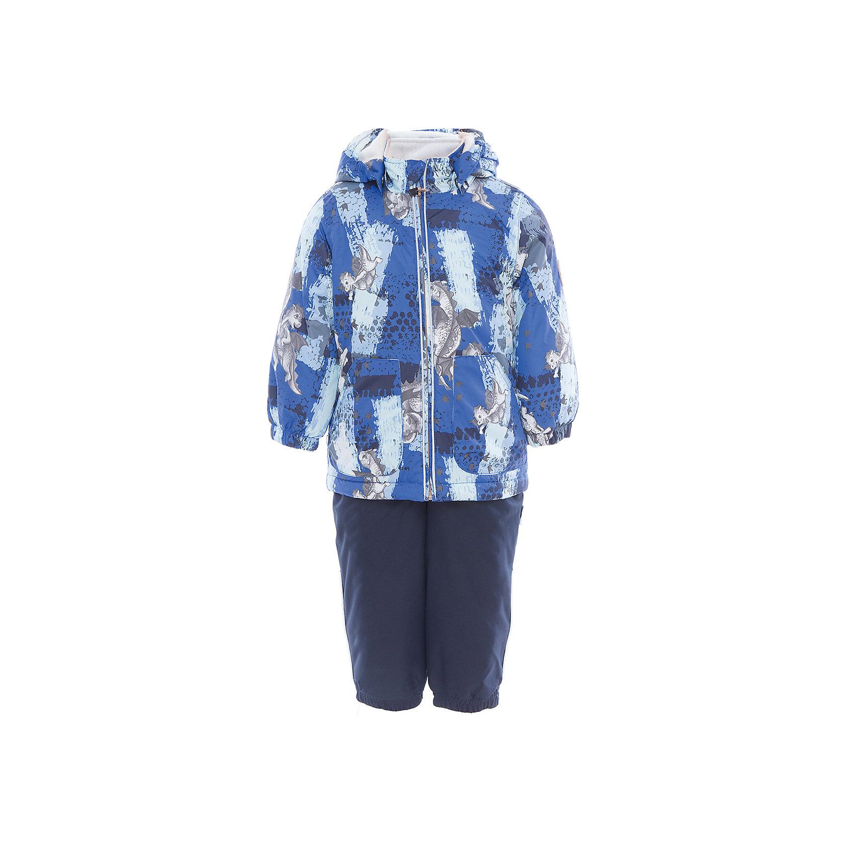 Комплект: куртка и полукомбинезон для мальчика CARLO HuppaХарактеристики товара:<br><br>• цвет: синий принт/тёмно-синий<br>• комплектация: куртка и полукомбинезон <br>• ткань: 100% полиэстер<br>• подкладка: тафта - 100% полиэстер<br>• утеплитель: 100% полиэстер; куртка 100 г, полукомбинезон 40 г<br>• температурный режим: от -5°С до +10°С<br>• водонепроницаемость: верх - 5000 мм, низ - 10000 мм<br>• воздухопроницаемость: верх - 5000 мм, низ - 10000 мм<br>• светоотражающие детали<br>• шов сидения проклеен<br>• съёмный капюшон с резинкой<br>• эластичные манжеты на рукавах<br>• манжеты брюк с резинкой<br>• съёмные эластичные штрипки<br>• без внутренних швов<br>• резиновые подтяжки<br>• коллекция: весна-лето 2017<br>• страна бренда: Эстония<br><br>Такой модный демисезонный комплект  обеспечит детям тепло и комфорт. Он сделан из материала, отталкивающего воду, и дополнен подкладкой с утеплителем, поэтому изделие идеально подходит для межсезонья. Материал изделий - с мембранной технологией: защищая от влаги и ветра, он легко выводит лишнюю влагу наружу. Комплект очень симпатично смотрится. <br><br>Одежда и обувь от популярного эстонского бренда Huppa - отличный вариант одеть ребенка можно и комфортно. Вещи, выпускаемые компанией, качественные, продуманные и очень удобные. Для производства изделий используются только безопасные для детей материалы. Продукция от Huppa порадует и детей, и их родителей!<br><br>Комплект: куртка и полукомбинезон для мальчика CARLO от бренда Huppa (Хуппа) можно купить в нашем интернет-магазине.<br><br>Ширина мм: 356<br>Глубина мм: 10<br>Высота мм: 245<br>Вес г: 519<br>Цвет: синий<br>Возраст от месяцев: 24<br>Возраст до месяцев: 36<br>Пол: Мужской<br>Возраст: Детский<br>Размер: 98,104,80,110,86,92<br>SKU: 5346697