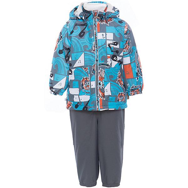 Комплект: куртка и полукомбинезон для мальчика CARLO HuppaВерхняя одежда<br>Характеристики товара:<br><br>• цвет: голубой принт/серый<br>• комплектация: куртка и полукомбинезон <br>• ткань: 100% полиэстер<br>• подкладка: тафта - 100% полиэстер<br>• утеплитель: 100% полиэстер; куртка 100 г, полукомбинезон 40 г<br>• температурный режим: от -5°С до +10°С<br>• водонепроницаемость: 10000 мм<br>• воздухопроницаемость: 10000 мм<br>• светоотражающие детали<br>• шов сидения проклеен<br>• съёмный капюшон с резинкой<br>• эластичные манжеты на рукавах<br>• манжеты брюк с резинкой<br>• съёмные эластичные штрипки<br>• без внутренних швов<br>• резиновые подтяжки<br>• коллекция: весна-лето 2017<br>• страна бренда: Эстония<br><br>Такой модный демисезонный комплект  обеспечит детям тепло и комфорт. Он сделан из материала, отталкивающего воду, и дополнен подкладкой с утеплителем, поэтому изделие идеально подходит для межсезонья. Материал изделий - с мембранной технологией: защищая от влаги и ветра, он легко выводит лишнюю влагу наружу. Комплект очень симпатично смотрится. <br><br>Одежда и обувь от популярного эстонского бренда Huppa - отличный вариант одеть ребенка можно и комфортно. Вещи, выпускаемые компанией, качественные, продуманные и очень удобные. Для производства изделий используются только безопасные для детей материалы. Продукция от Huppa порадует и детей, и их родителей!<br><br>Комплект: куртка и полукомбинезон для мальчика CARLO от бренда Huppa (Хуппа) можно купить в нашем интернет-магазине.<br>Ширина мм: 356; Глубина мм: 10; Высота мм: 245; Вес г: 519; Цвет: голубой; Возраст от месяцев: 12; Возраст до месяцев: 15; Пол: Мужской; Возраст: Детский; Размер: 80,110,104,98,92,86; SKU: 5346711;