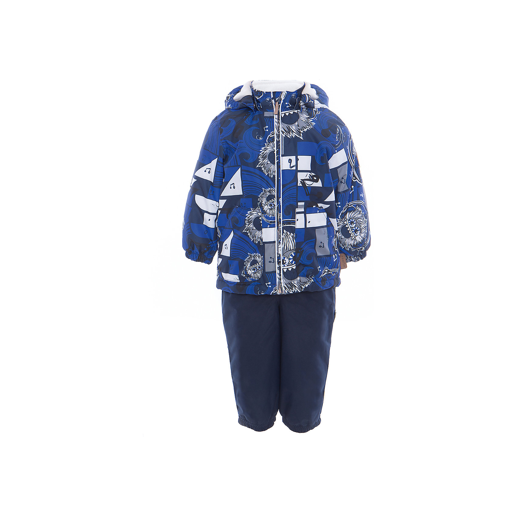 Комплект: куртка и полукомбинезон для мальчика CARLO HuppaВерхняя одежда<br>Характеристики товара:<br><br>• цвет: тёмно-синий принт/тёмно-синий<br>• комплектация: куртка и полукомбинезон <br>• ткань: 100% полиэстер<br>• подкладка: тафта - 100% полиэстер<br>• утеплитель: 100% полиэстер; куртка 100 г, полукомбинезон 40 г<br>• температурный режим: от -5°С до +10°С<br>• водонепроницаемость: 10000 мм<br>• воздухопроницаемость: 10000 мм<br>• светоотражающие детали<br>• шов сидения проклеен<br>• съёмный капюшон с резинкой<br>• эластичные манжеты на рукавах<br>• манжеты брюк с резинкой<br>• съёмные эластичные штрипки<br>• без внутренних швов<br>• резиновые подтяжки<br>• коллекция: весна-лето 2017<br>• страна бренда: Эстония<br><br>Такой модный демисезонный комплект  обеспечит детям тепло и комфорт. Он сделан из материала, отталкивающего воду, и дополнен подкладкой с утеплителем, поэтому изделие идеально подходит для межсезонья. Материал изделий - с мембранной технологией: защищая от влаги и ветра, он легко выводит лишнюю влагу наружу. Комплект очень симпатично смотрится. <br><br>Одежда и обувь от популярного эстонского бренда Huppa - отличный вариант одеть ребенка можно и комфортно. Вещи, выпускаемые компанией, качественные, продуманные и очень удобные. Для производства изделий используются только безопасные для детей материалы. Продукция от Huppa порадует и детей, и их родителей!<br><br>Комплект: куртка и полукомбинезон для мальчика CARLO от бренда Huppa (Хуппа) можно купить в нашем интернет-магазине.<br><br>Ширина мм: 356<br>Глубина мм: 10<br>Высота мм: 245<br>Вес г: 519<br>Цвет: синий<br>Возраст от месяцев: 36<br>Возраст до месяцев: 48<br>Пол: Мужской<br>Возраст: Детский<br>Размер: 104,110,80,86,92,98<br>SKU: 5346725